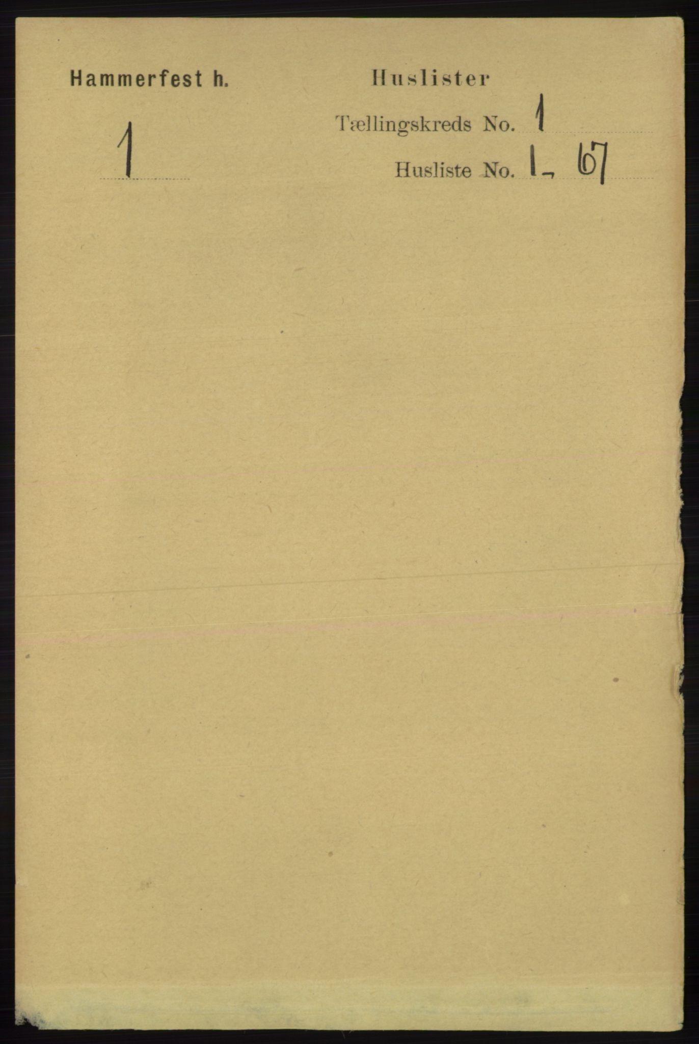 RA, Folketelling 1891 for 2016 Hammerfest herred, 1891, s. 13