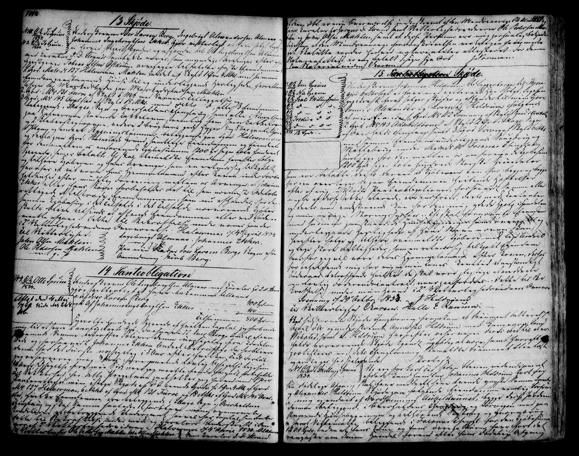 SAT, Namdal sorenskriveri, 2/2C/L0010: Pantebok nr. G2, 1829-1836, s. 1012-1013