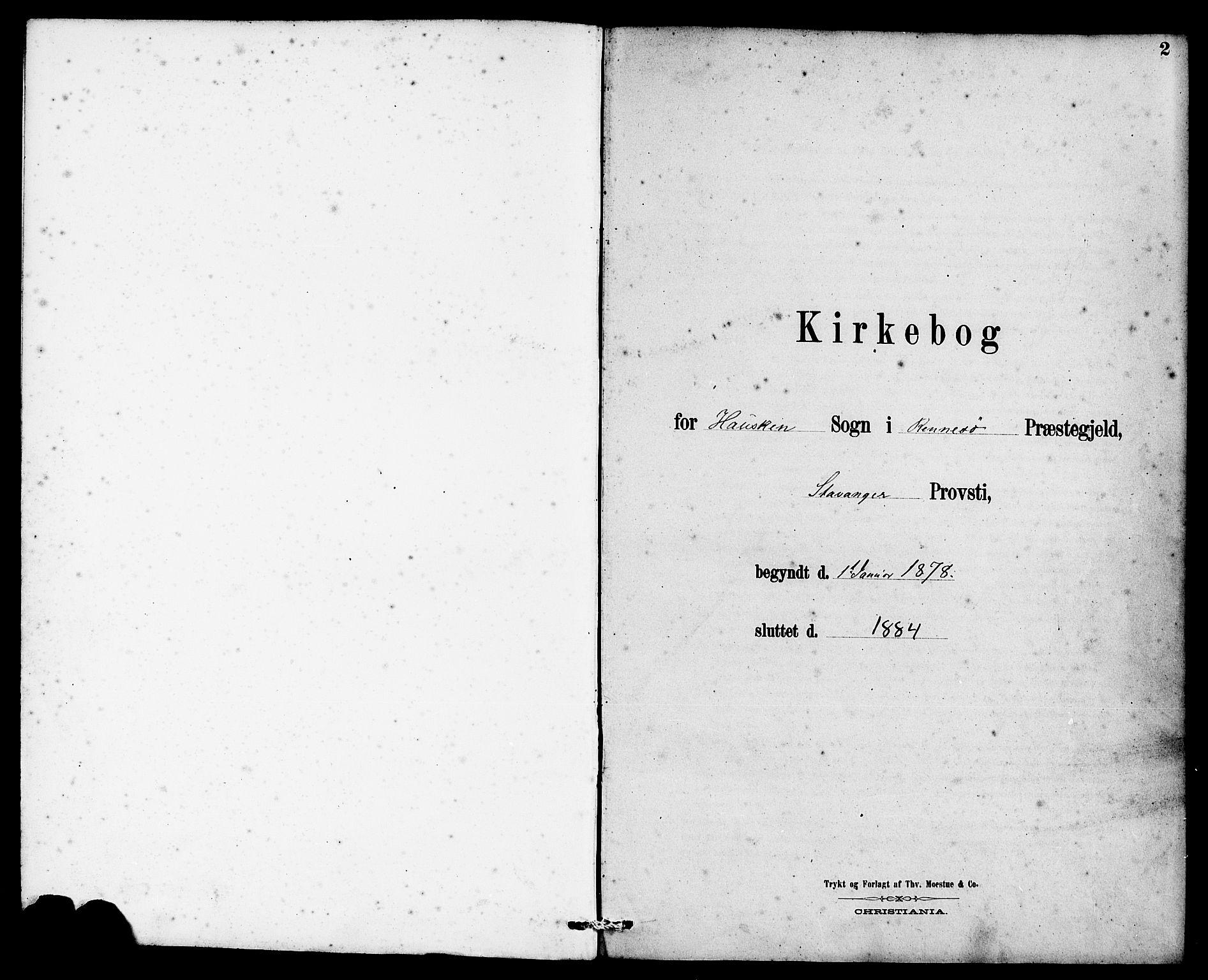 SAST, Rennesøy sokneprestkontor, H/Ha/Haa/L0007: Ministerialbok nr. A 7, 1878-1884, s. 2