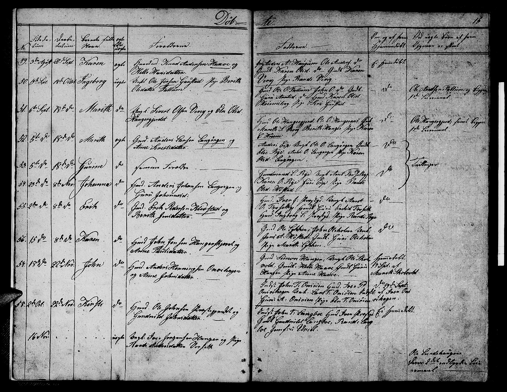SAT, Ministerialprotokoller, klokkerbøker og fødselsregistre - Sør-Trøndelag, 612/L0386: Klokkerbok nr. 612C02, 1834-1845, s. 15