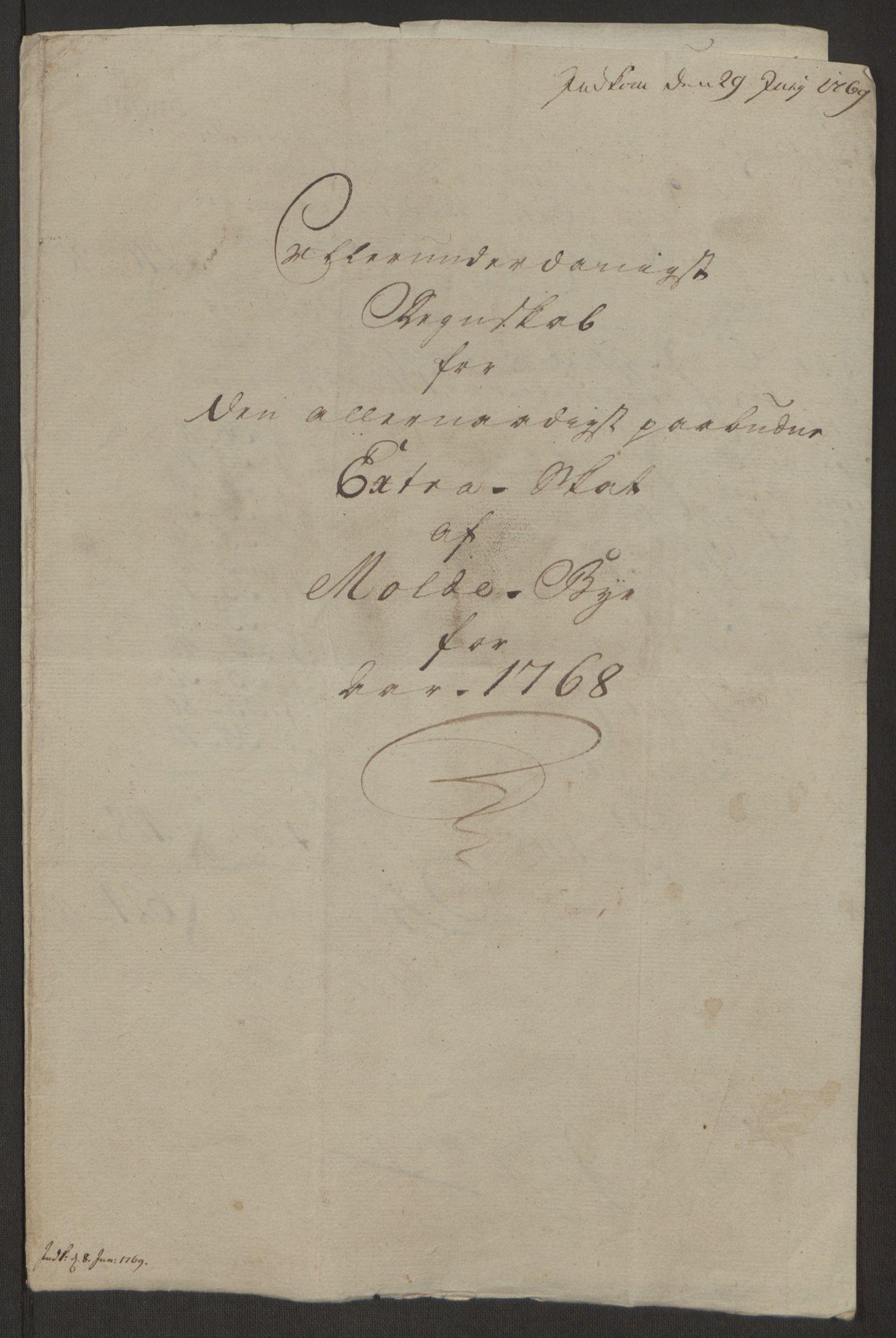 RA, Rentekammeret inntil 1814, Reviderte regnskaper, Byregnskaper, R/Rq/L0487: [Q1] Kontribusjonsregnskap, 1762-1772, s. 156