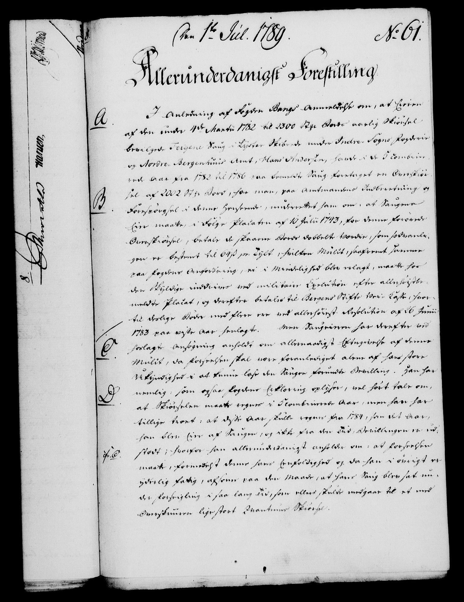 RA, Rentekammeret, Kammerkanselliet, G/Gf/Gfa/L0071: Norsk relasjons- og resolusjonsprotokoll (merket RK 52.71), 1789, s. 357