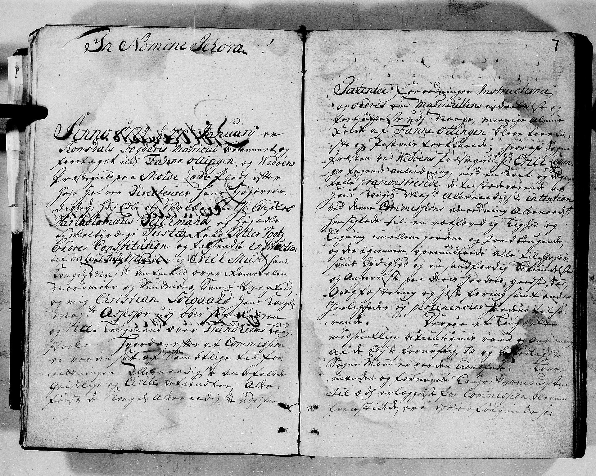 RA, Rentekammeret inntil 1814, Realistisk ordnet avdeling, N/Nb/Nbf/L0152: Romsdal eksaminasjonsprotokoll, 1724, s. 6b-7a