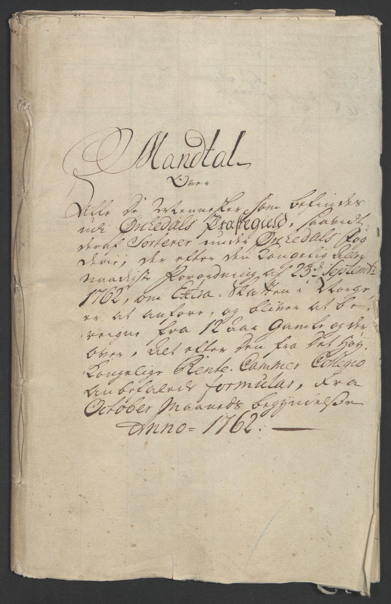 RA, Rentekammeret inntil 1814, Realistisk ordnet avdeling, Ol/L0021: [Gg 10]: Ekstraskatten, 23.09.1762. Orkdal og Gauldal, 1762-1767, s. 38