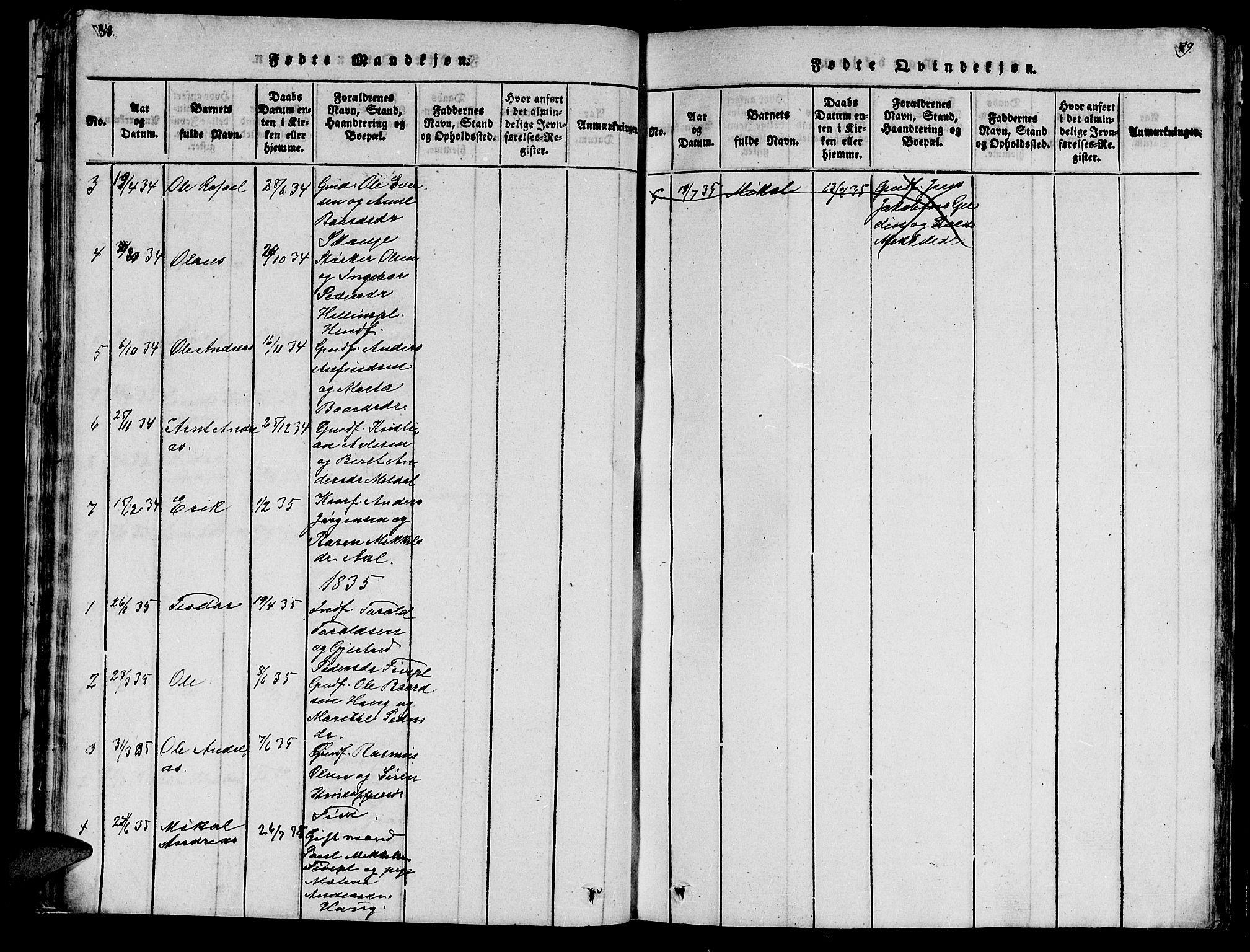 SAT, Ministerialprotokoller, klokkerbøker og fødselsregistre - Nord-Trøndelag, 747/L0459: Klokkerbok nr. 747C01, 1816-1842, s. 88-89