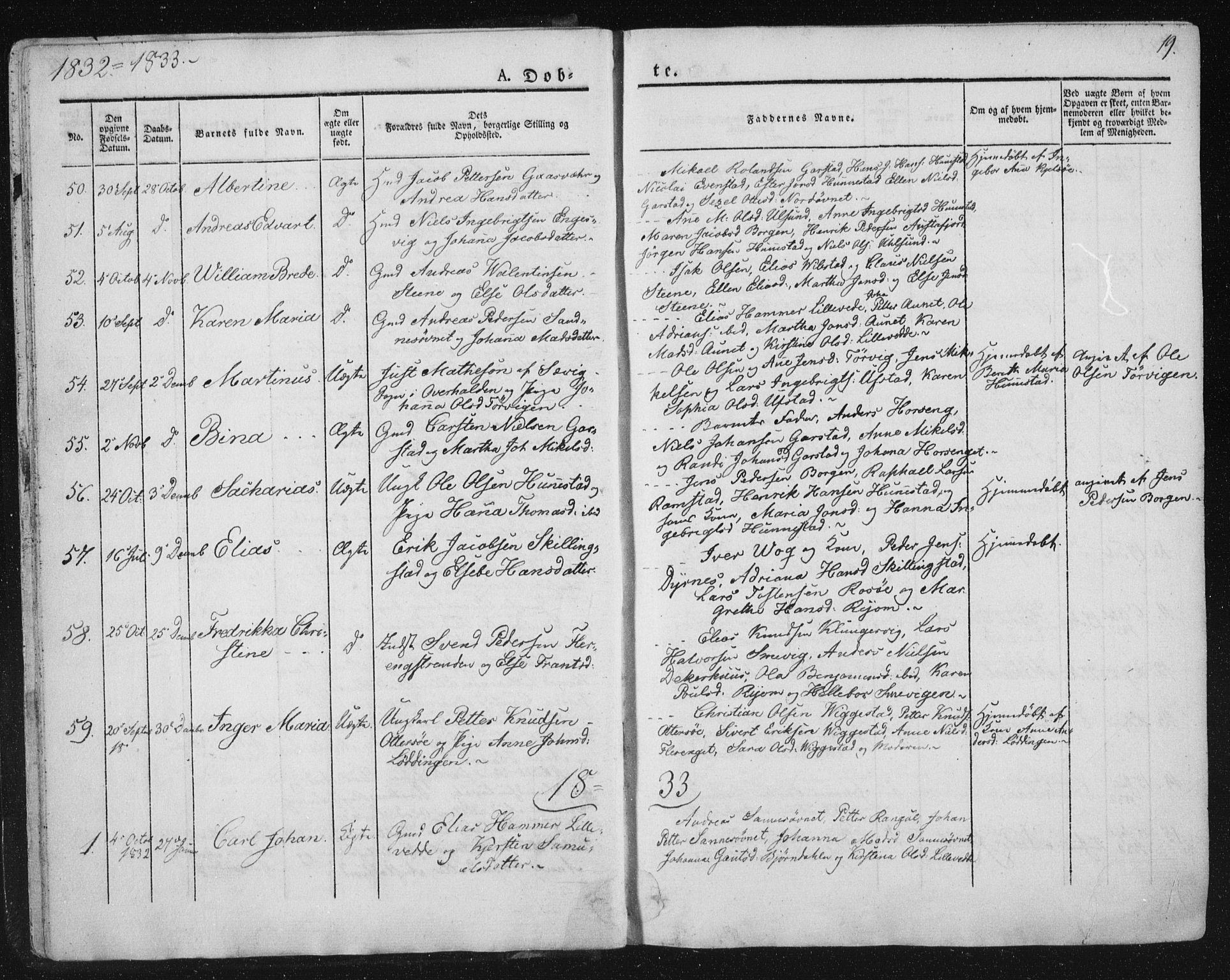 SAT, Ministerialprotokoller, klokkerbøker og fødselsregistre - Nord-Trøndelag, 784/L0669: Ministerialbok nr. 784A04, 1829-1859, s. 19