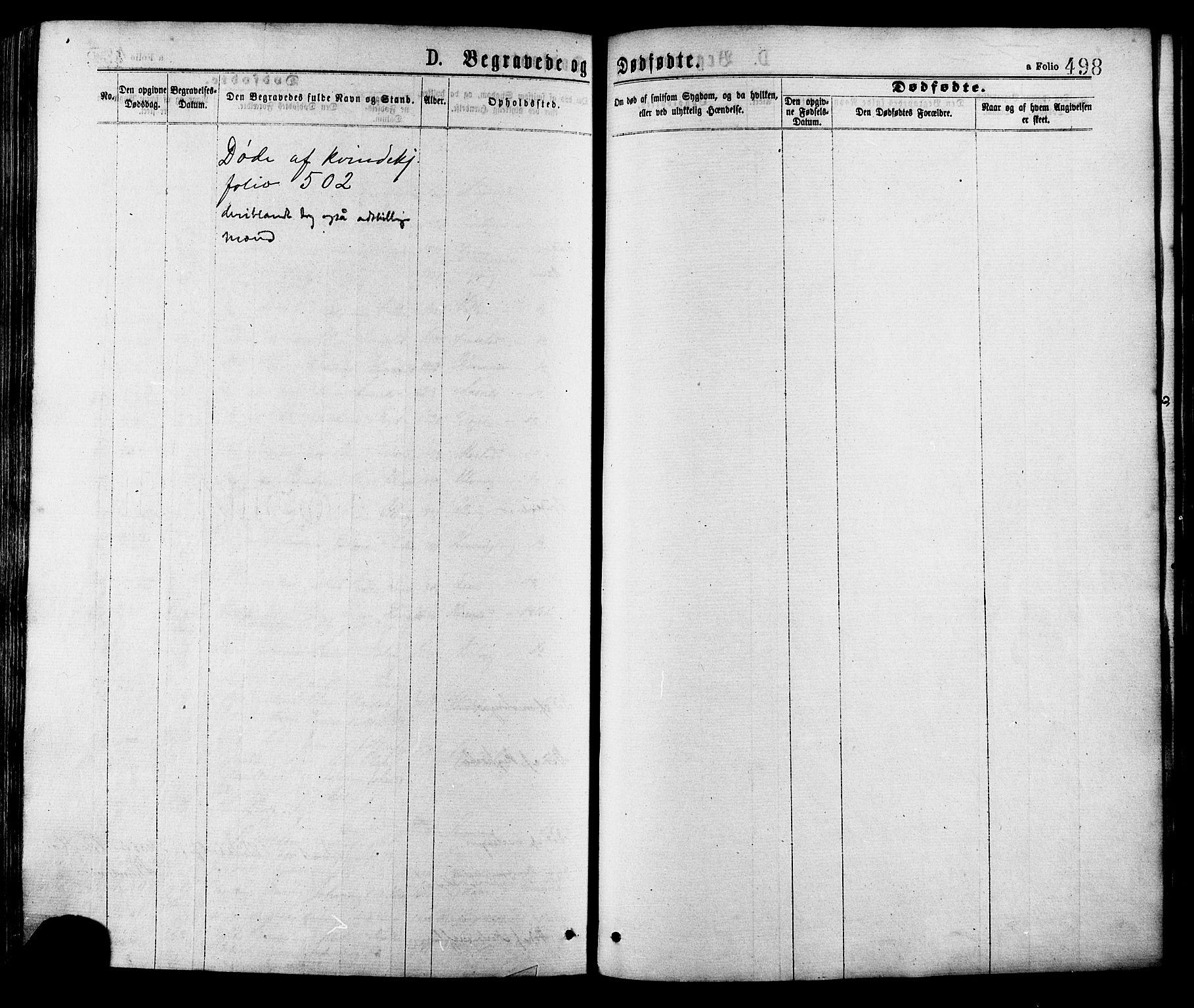 SAT, Ministerialprotokoller, klokkerbøker og fødselsregistre - Sør-Trøndelag, 634/L0532: Ministerialbok nr. 634A08, 1871-1881, s. 498