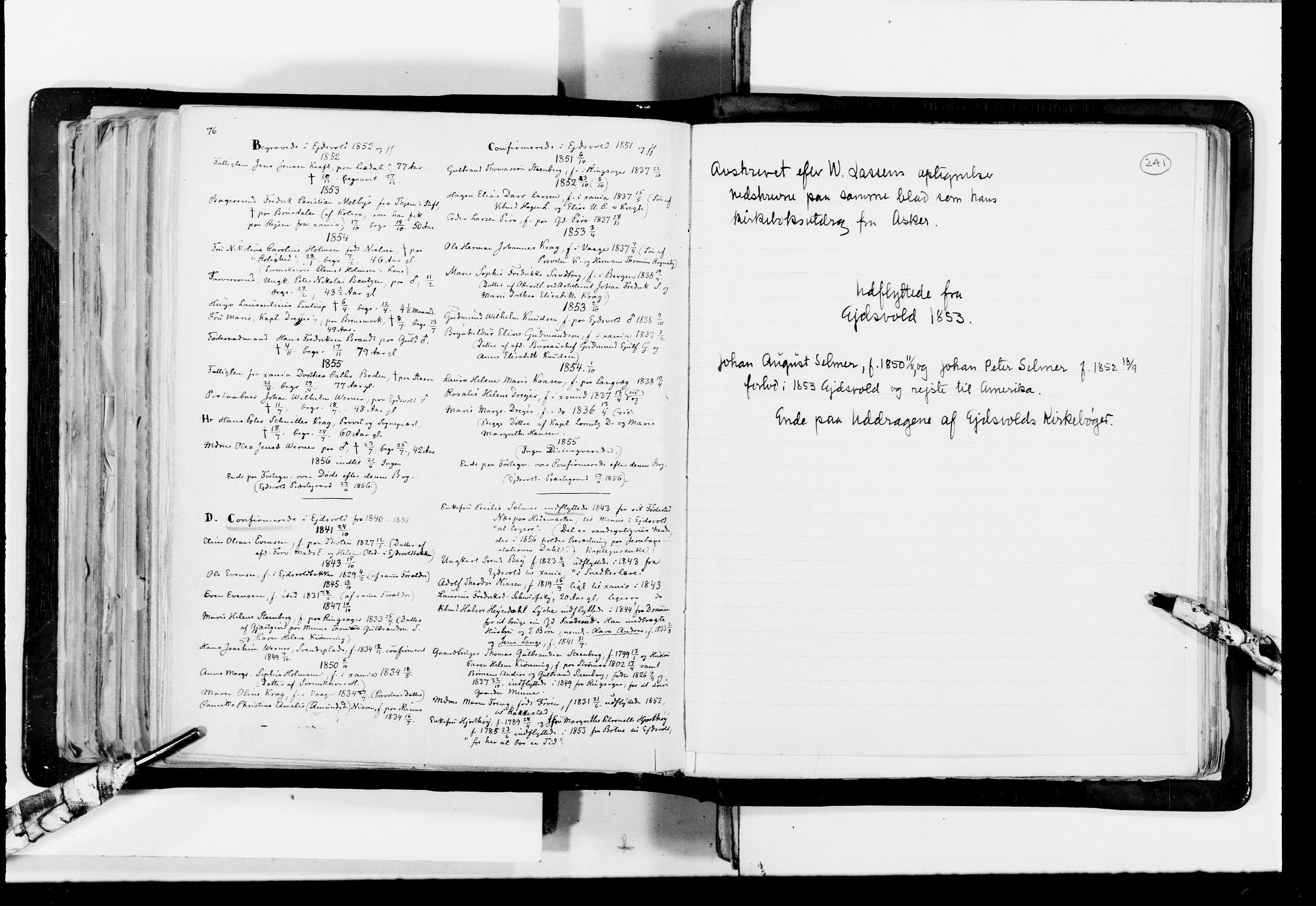 RA, Lassens samlinger, F/Fc, s. 241