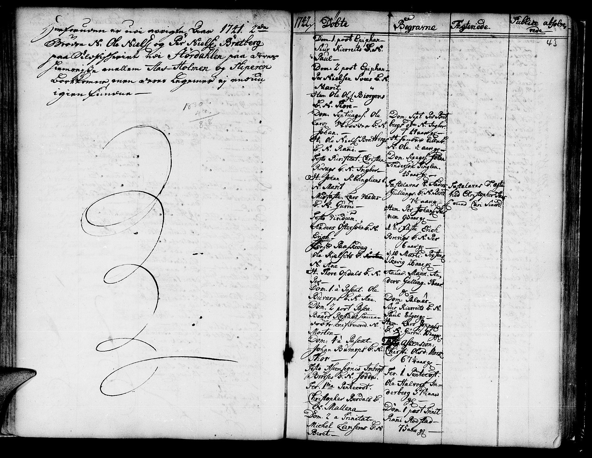 SAT, Ministerialprotokoller, klokkerbøker og fødselsregistre - Nord-Trøndelag, 741/L0385: Ministerialbok nr. 741A01, 1722-1815, s. 43