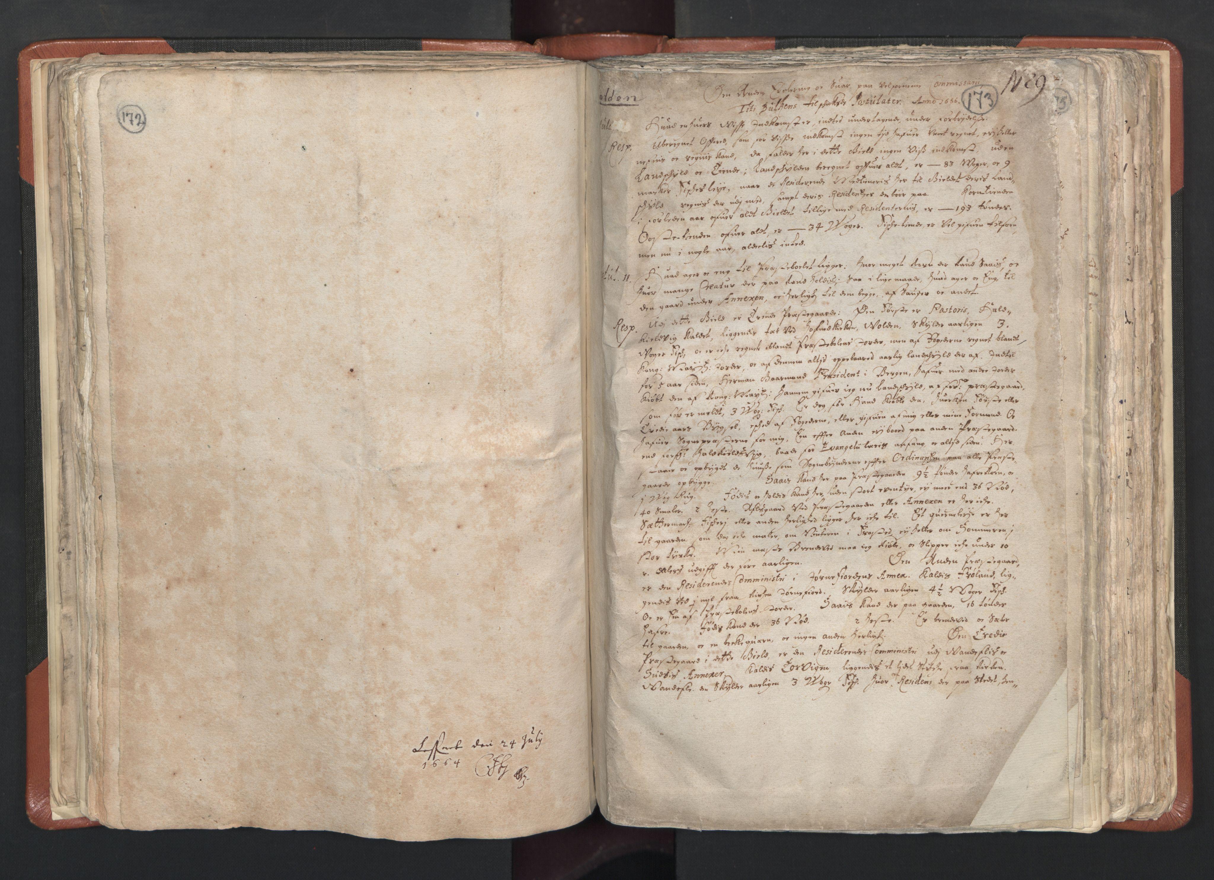 RA, Sogneprestenes manntall 1664-1666, nr. 26: Sunnmøre prosti, 1664-1666, s. 172-173
