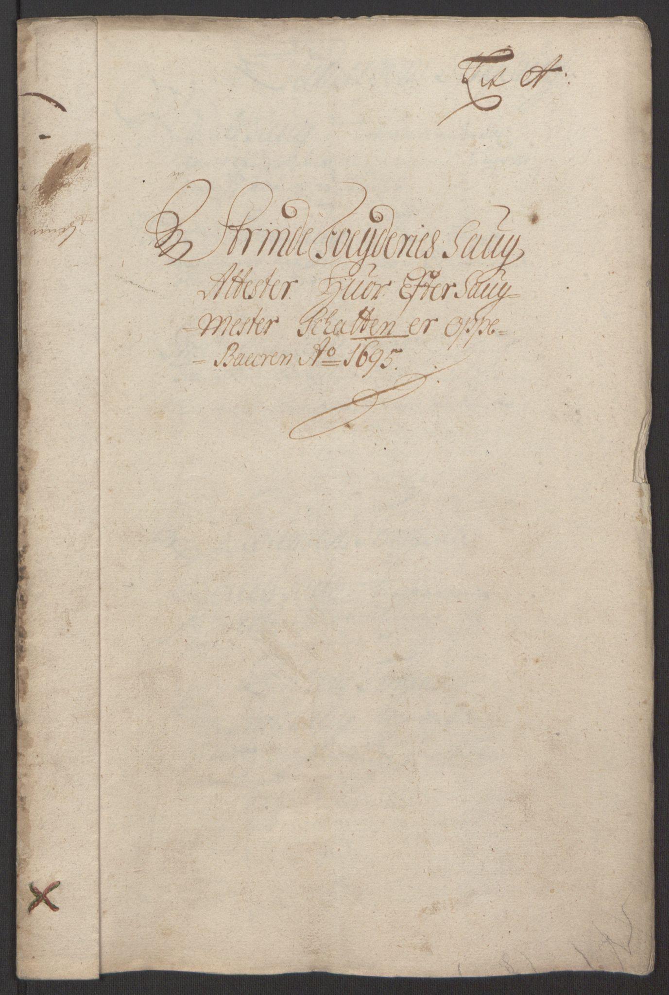 RA, Rentekammeret inntil 1814, Reviderte regnskaper, Fogderegnskap, R61/L4105: Fogderegnskap Strinda og Selbu, 1695, s. 20