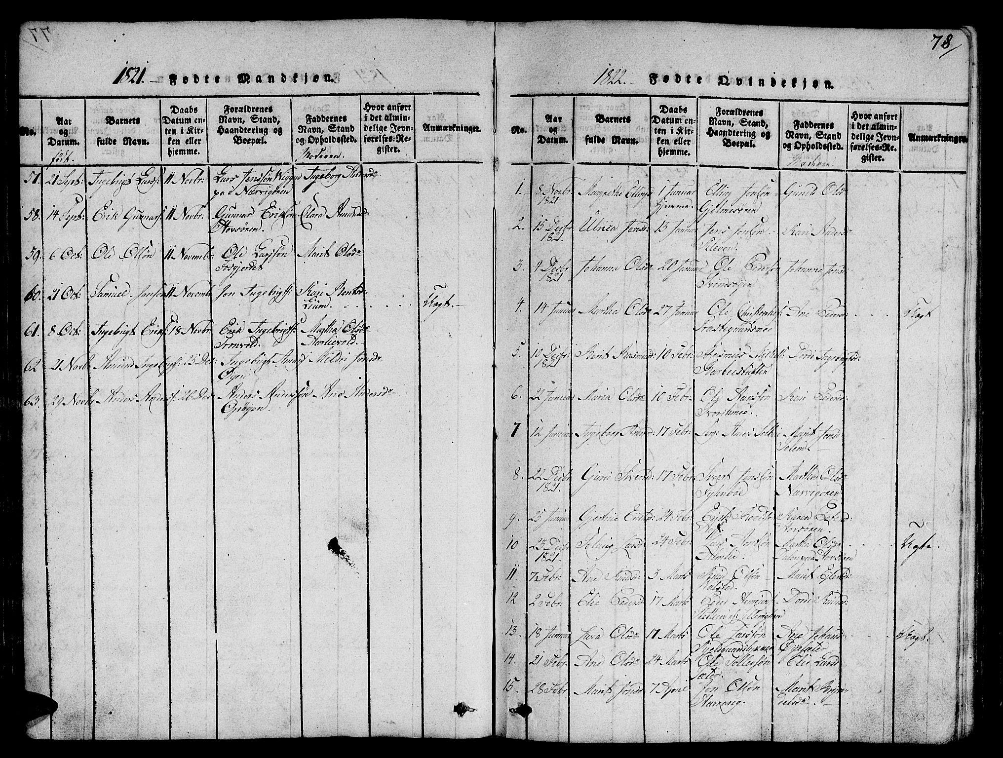 SAT, Ministerialprotokoller, klokkerbøker og fødselsregistre - Sør-Trøndelag, 668/L0803: Ministerialbok nr. 668A03, 1800-1826, s. 78