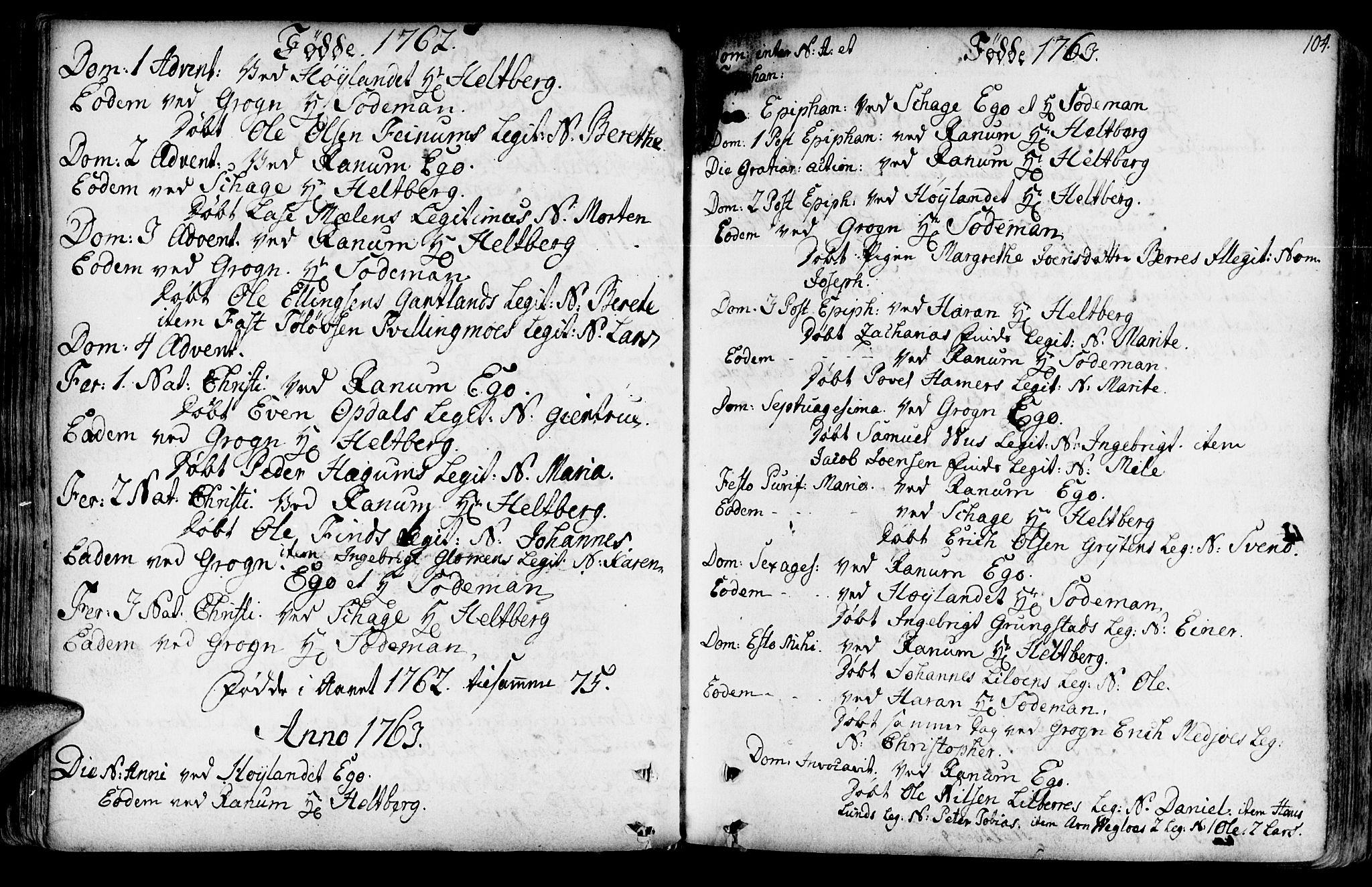 SAT, Ministerialprotokoller, klokkerbøker og fødselsregistre - Nord-Trøndelag, 764/L0542: Ministerialbok nr. 764A02, 1748-1779, s. 104