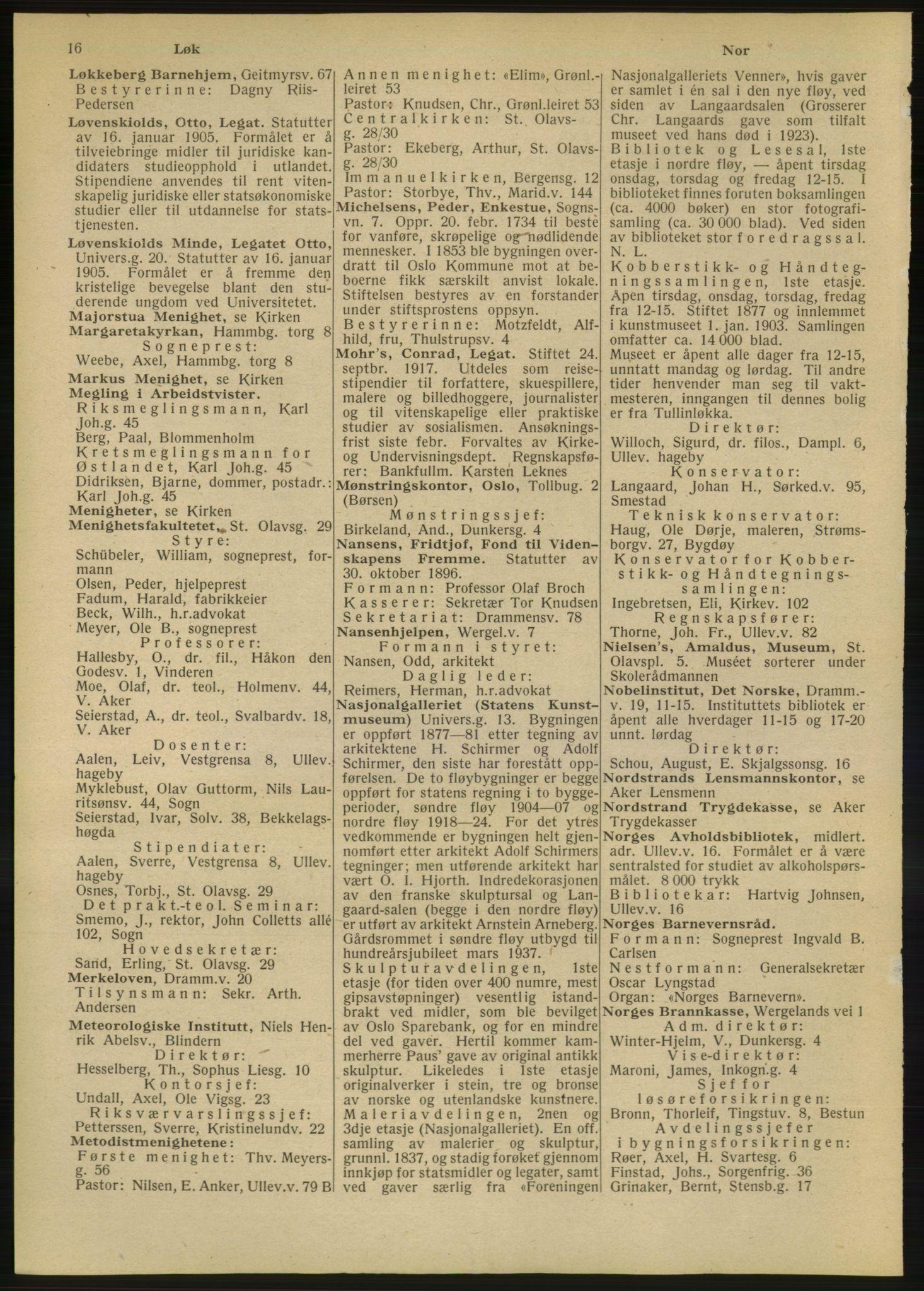 RA, Oslo adressebok (publikasjon)*, 1947, s. 16
