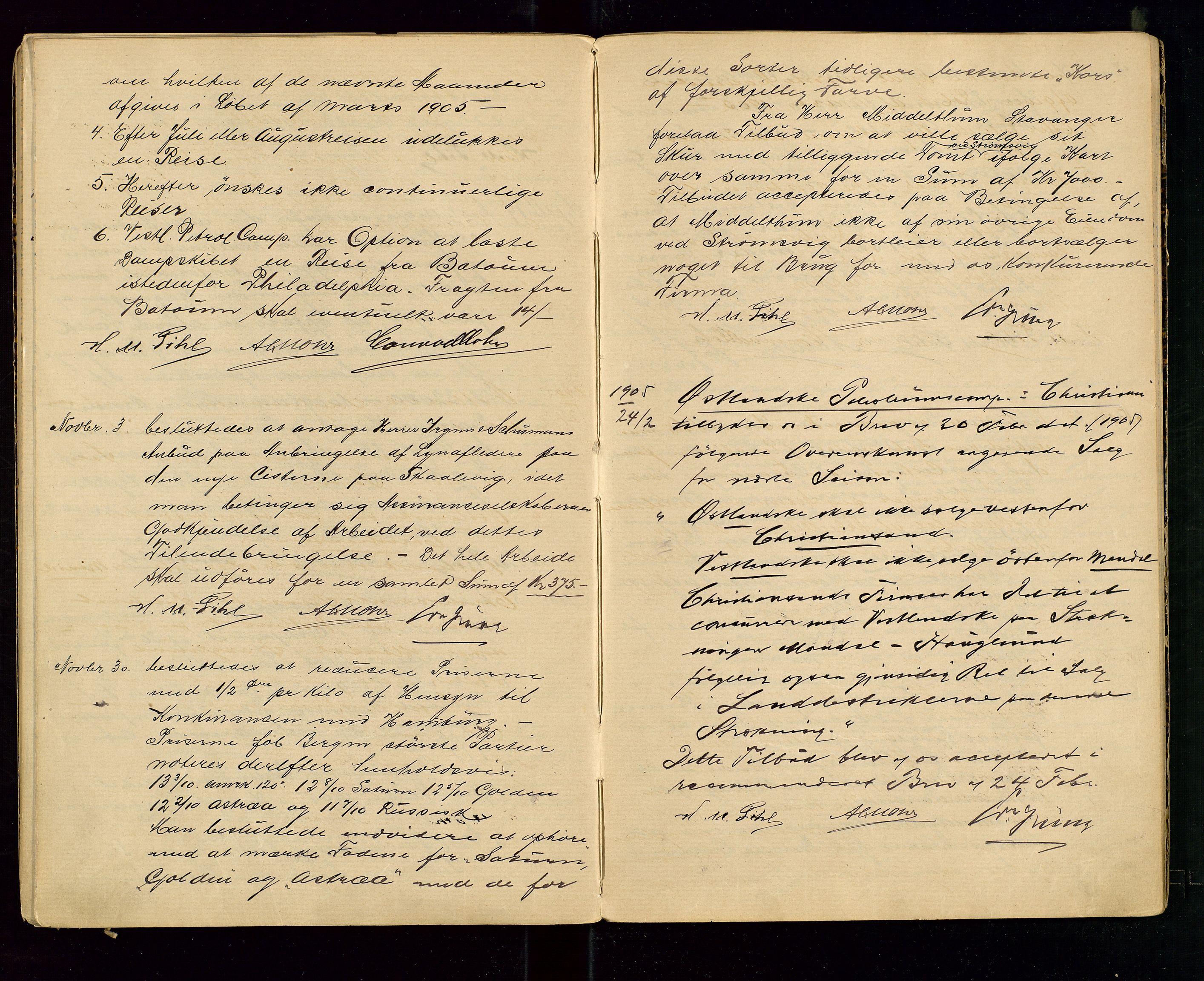 SAST, PA 1533 - A/S Vestlandske Petroleumscompani, A/Aa/L0001: Generalforsamlinger og styreprotokoller, 1890-1907, s. 55