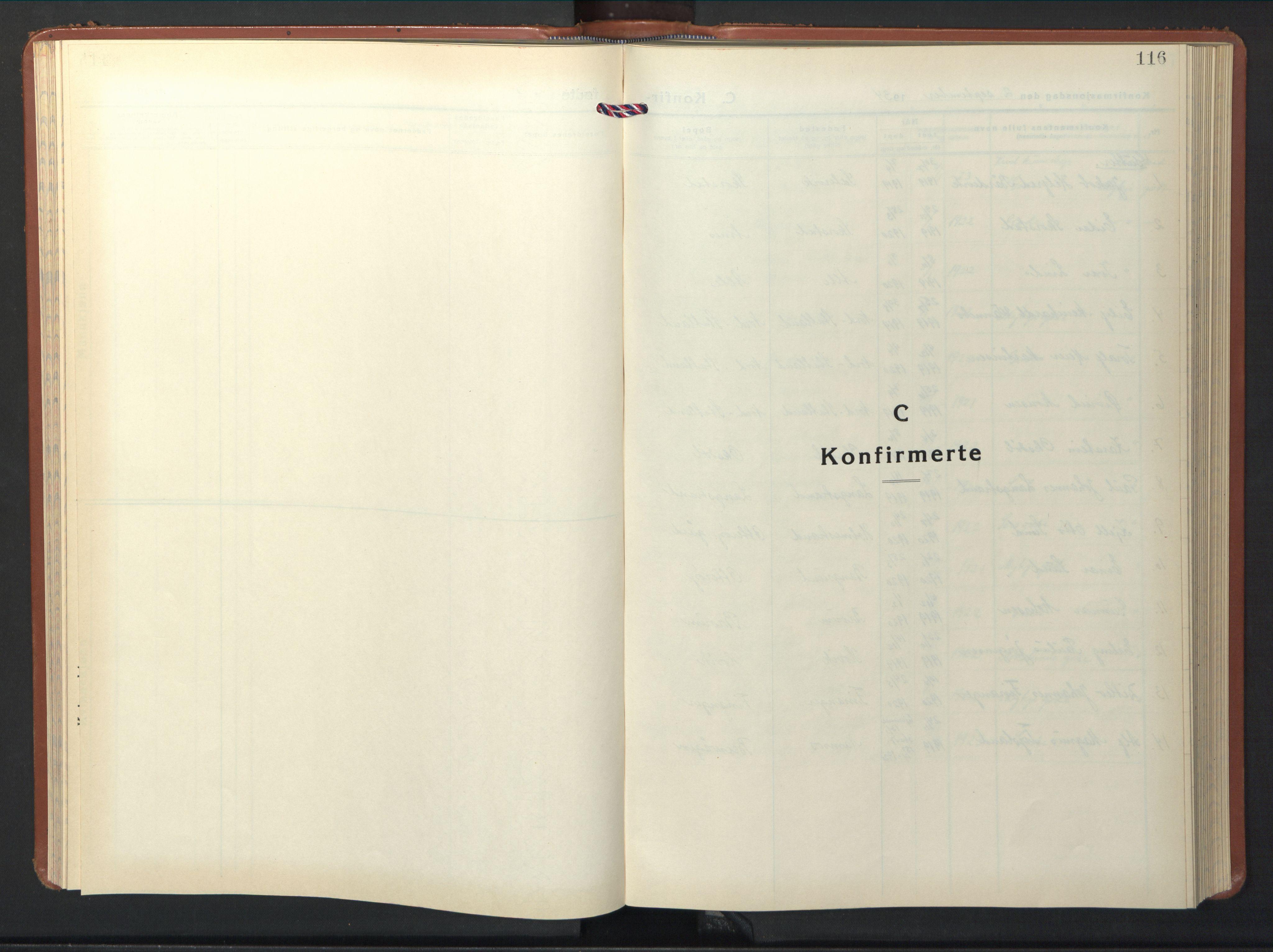 SAT, Ministerialprotokoller, klokkerbøker og fødselsregistre - Nord-Trøndelag, 774/L0631: Klokkerbok nr. 774C02, 1934-1950, s. 116