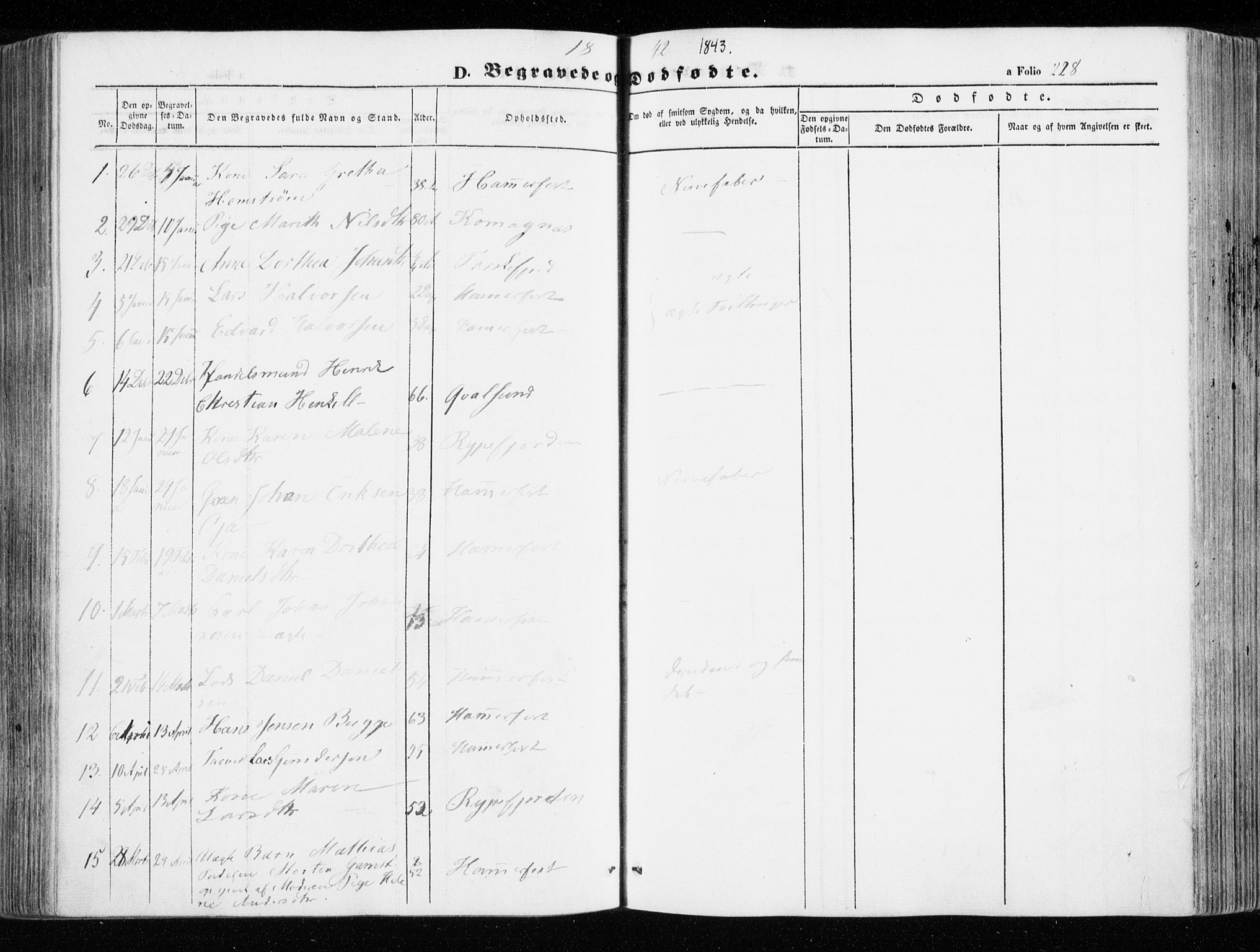SATØ, Hammerfest sokneprestembete, Ministerialbok nr. 4, 1843-1856, s. 228