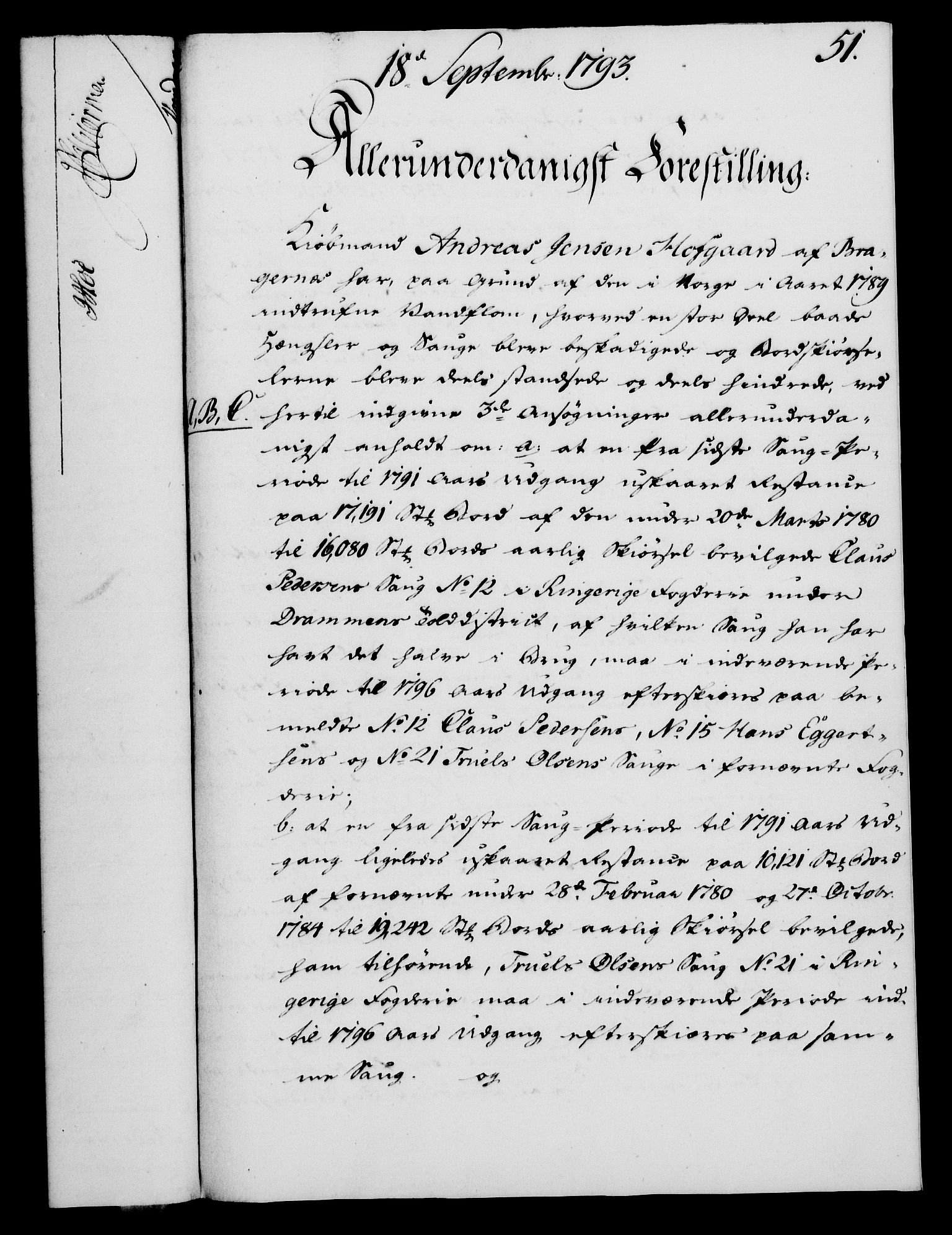 RA, Rentekammeret, Kammerkanselliet, G/Gf/Gfa/L0075: Norsk relasjons- og resolusjonsprotokoll (merket RK 52.75), 1793, s. 232