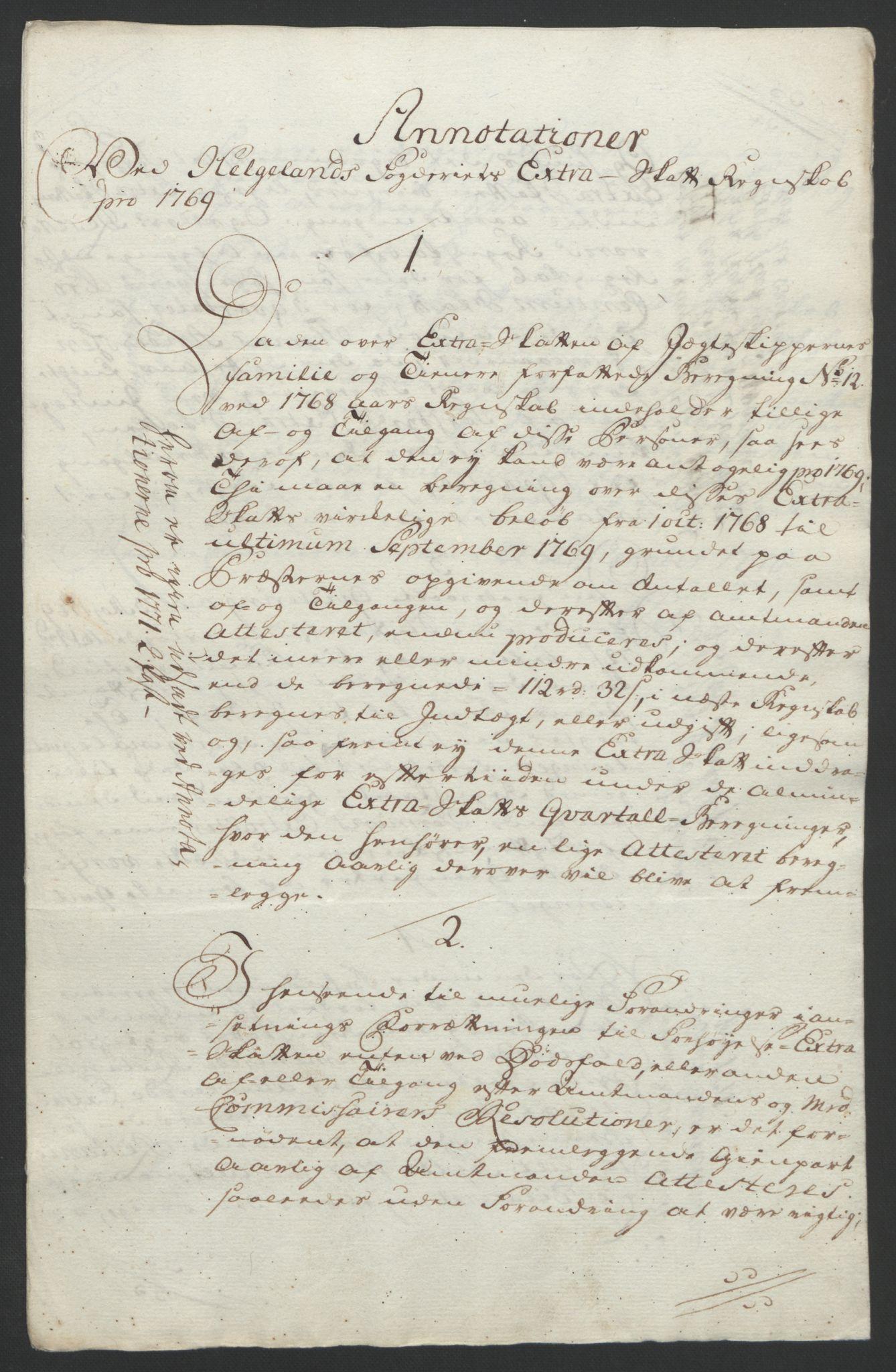 RA, Rentekammeret inntil 1814, Reviderte regnskaper, Fogderegnskap, R65/L4573: Ekstraskatten Helgeland, 1762-1772, s. 367