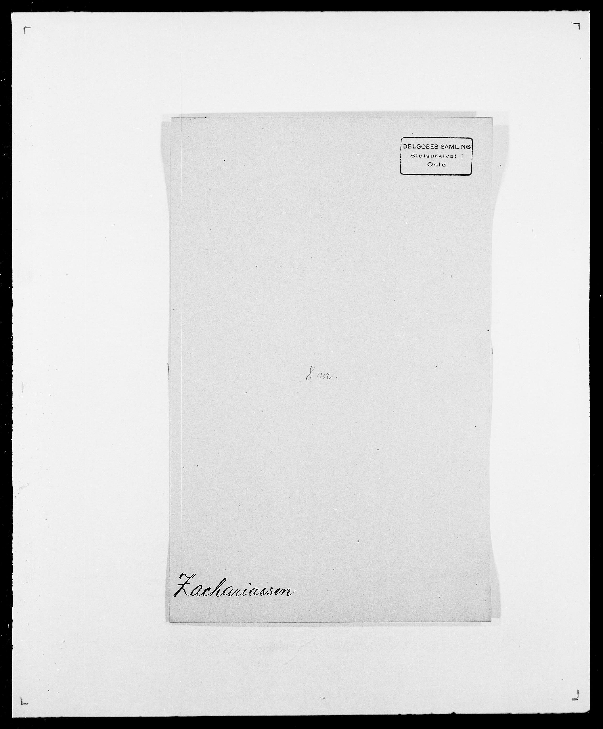 SAO, Delgobe, Charles Antoine - samling, D/Da/L0043: Wulfsberg - v. Zanten, s. 58