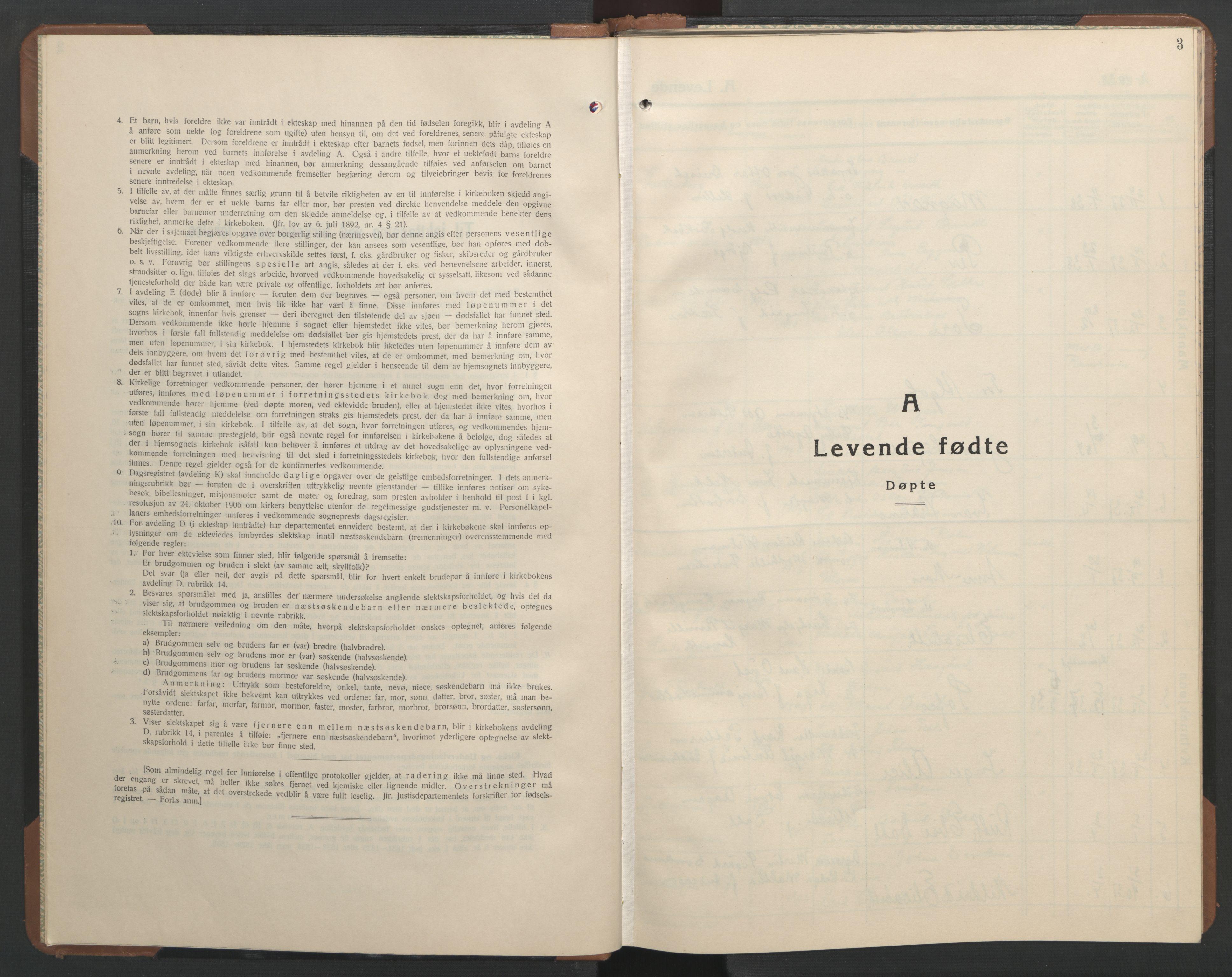 SAT, Ministerialprotokoller, klokkerbøker og fødselsregistre - Sør-Trøndelag, 606/L0315: Klokkerbok nr. 606C11, 1938-1947, s. 3