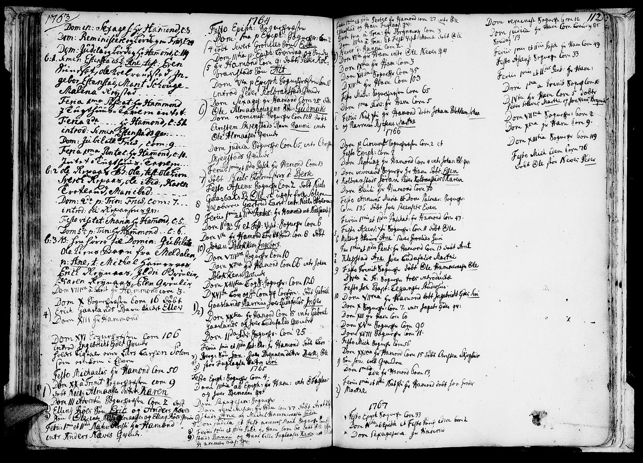 SAT, Ministerialprotokoller, klokkerbøker og fødselsregistre - Sør-Trøndelag, 691/L1060: Ministerialbok nr. 691A01 /4, 1740-1767, s. 112