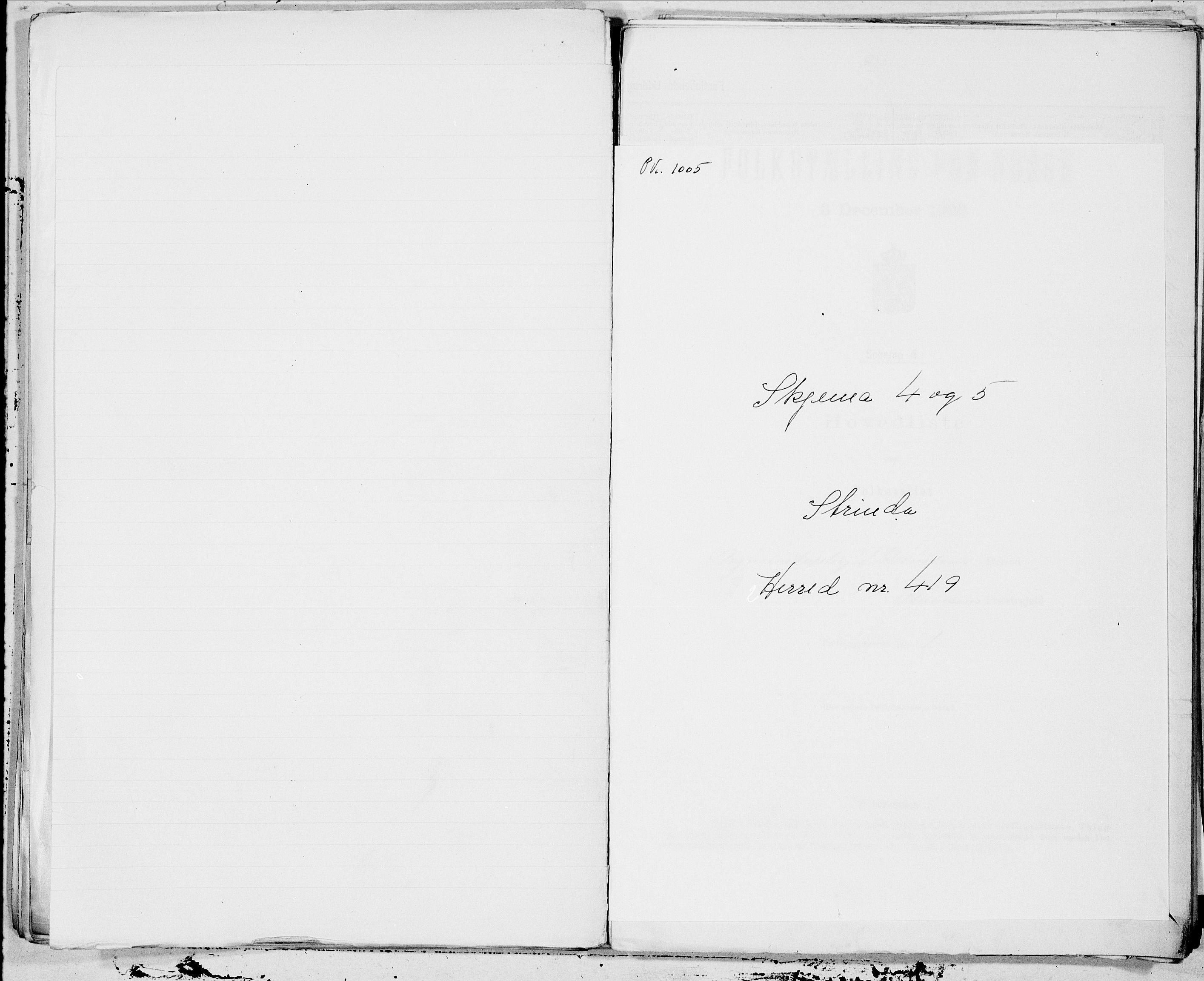 SAT, Folketelling 1900 for 1660 Strinda herred, 1900, s. 1