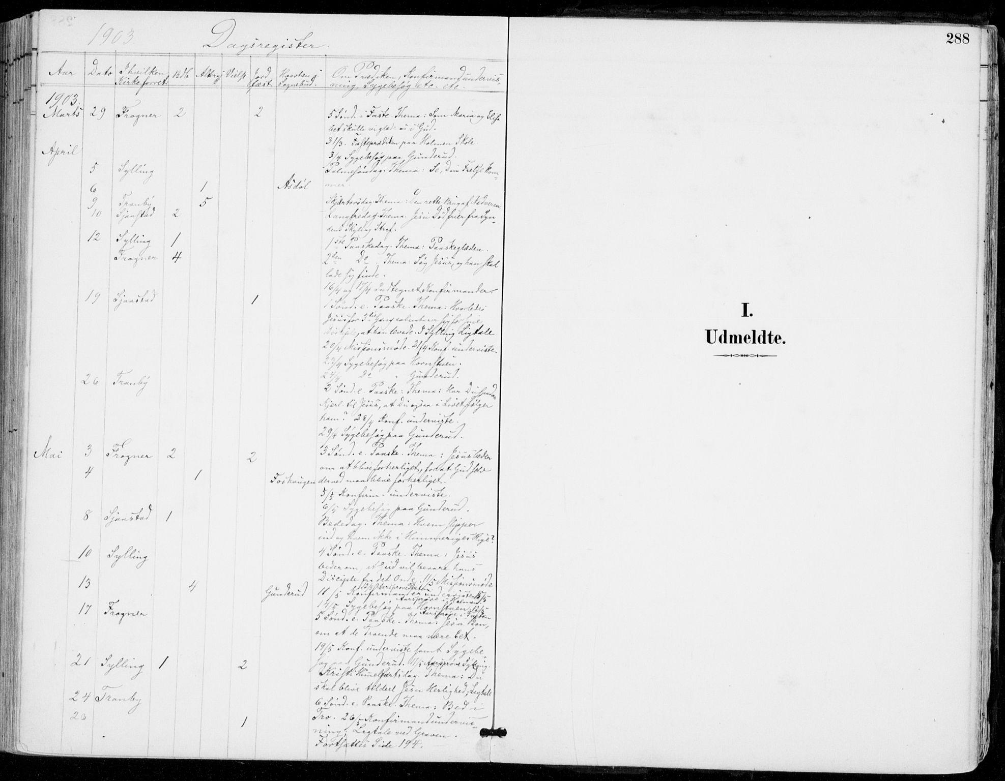 SAKO, Sylling kirkebøker, F/Fa/L0001: Ministerialbok nr. 1, 1883-1910, s. 288