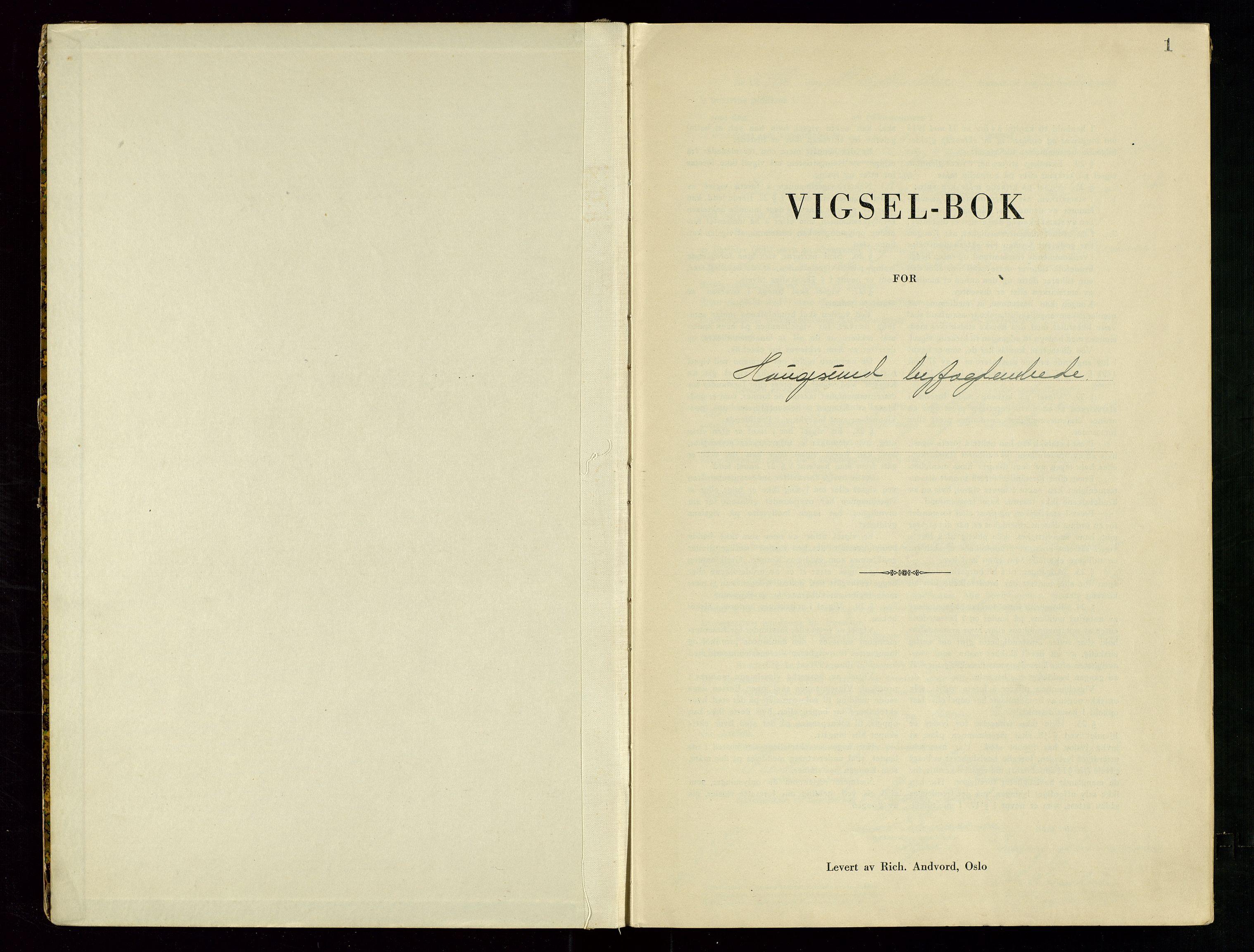 SAST, Haugesund tingrett, III/IIID/L0003: Vigselbok, 1942-1943, s. 1