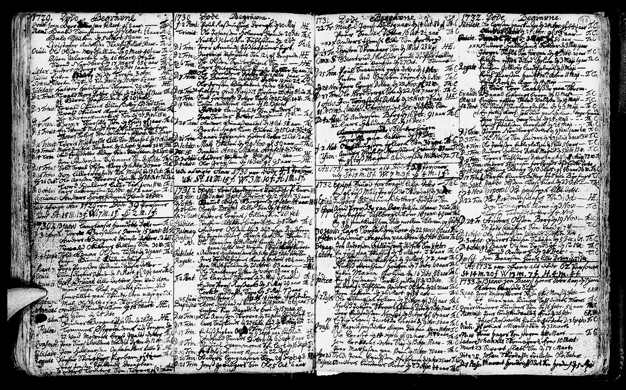 SAT, Ministerialprotokoller, klokkerbøker og fødselsregistre - Nord-Trøndelag, 723/L0230: Ministerialbok nr. 723A01, 1705-1747, s. 98