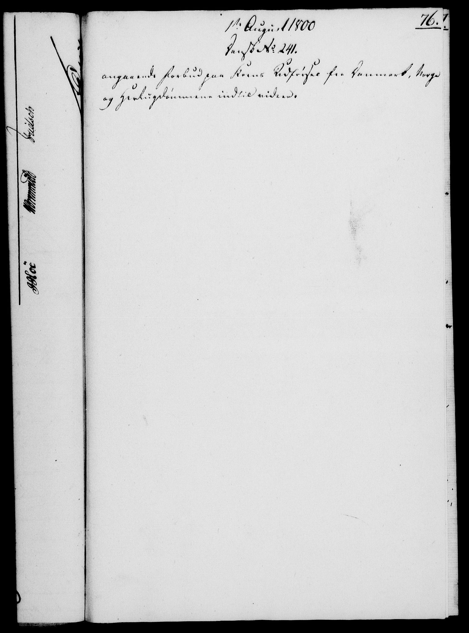 RA, Rentekammeret, Kammerkanselliet, G/Gf/Gfa/L0082: Norsk relasjons- og resolusjonsprotokoll (merket RK 52.82), 1800, s. 466