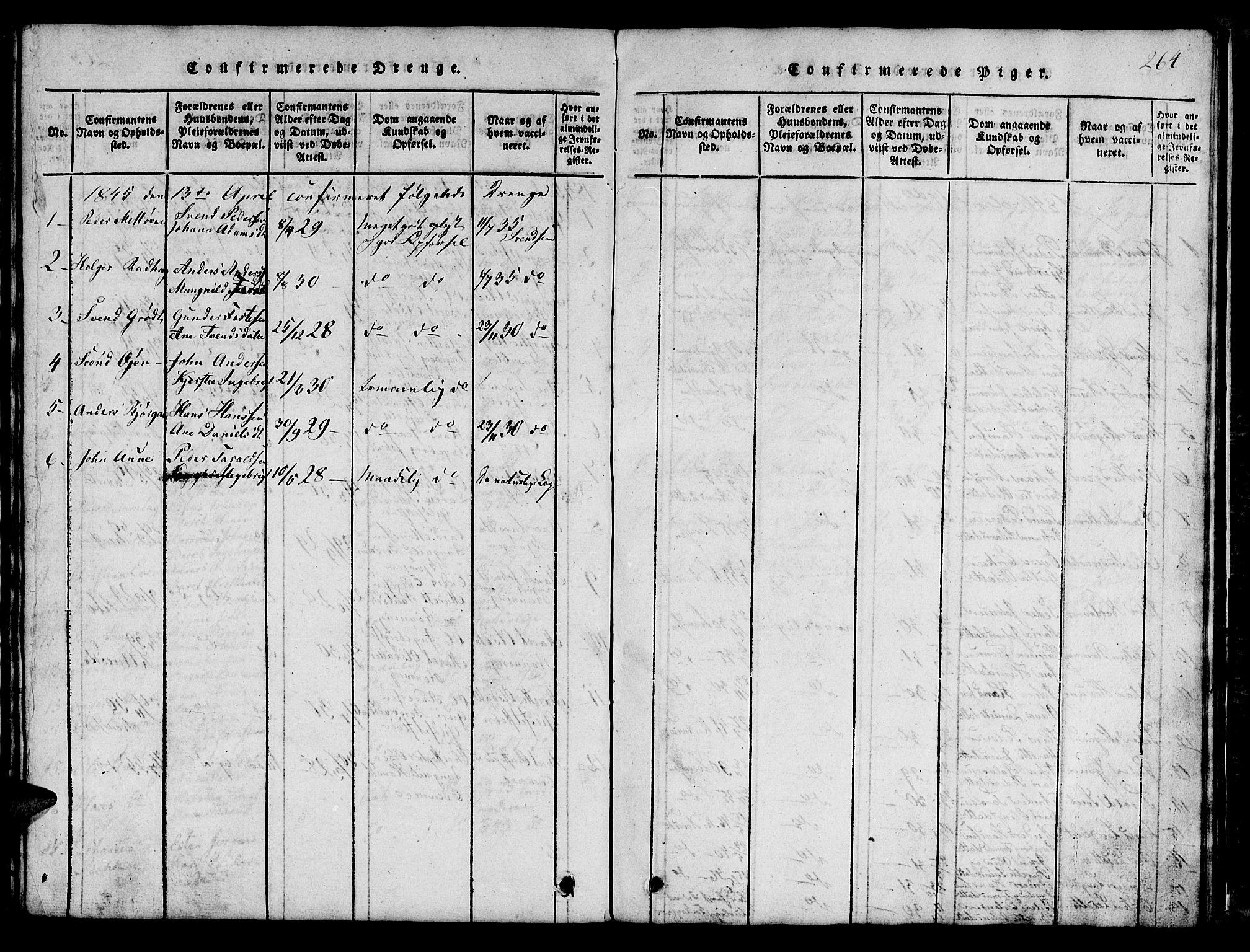SAT, Ministerialprotokoller, klokkerbøker og fødselsregistre - Sør-Trøndelag, 685/L0976: Klokkerbok nr. 685C01, 1817-1878, s. 264