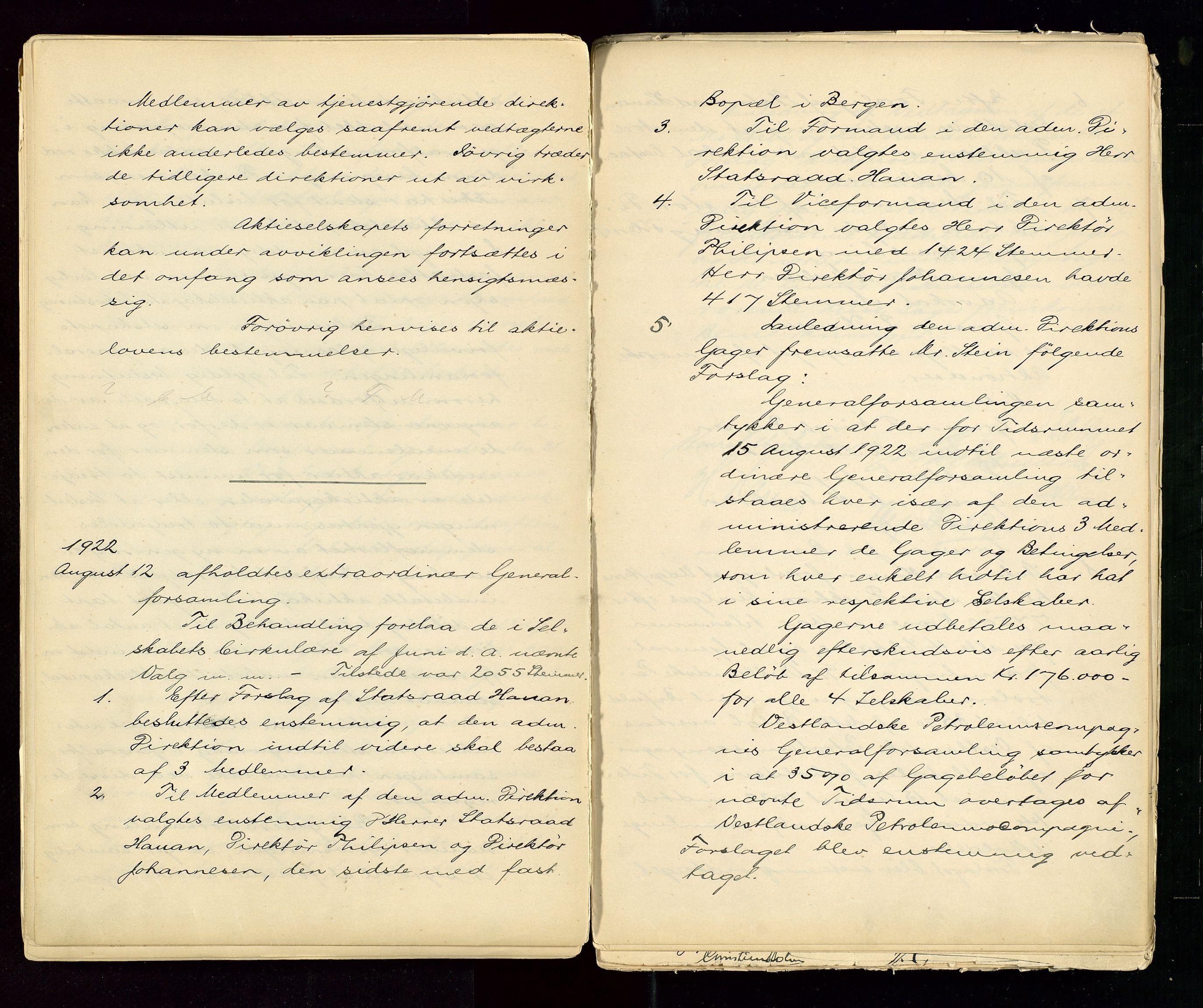 SAST, PA 1533 - A/S Vestlandske Petroleumscompani, A/Aa/L0001: Generalforsamlinger og styreprotokoller, 1890-1953, s. 76