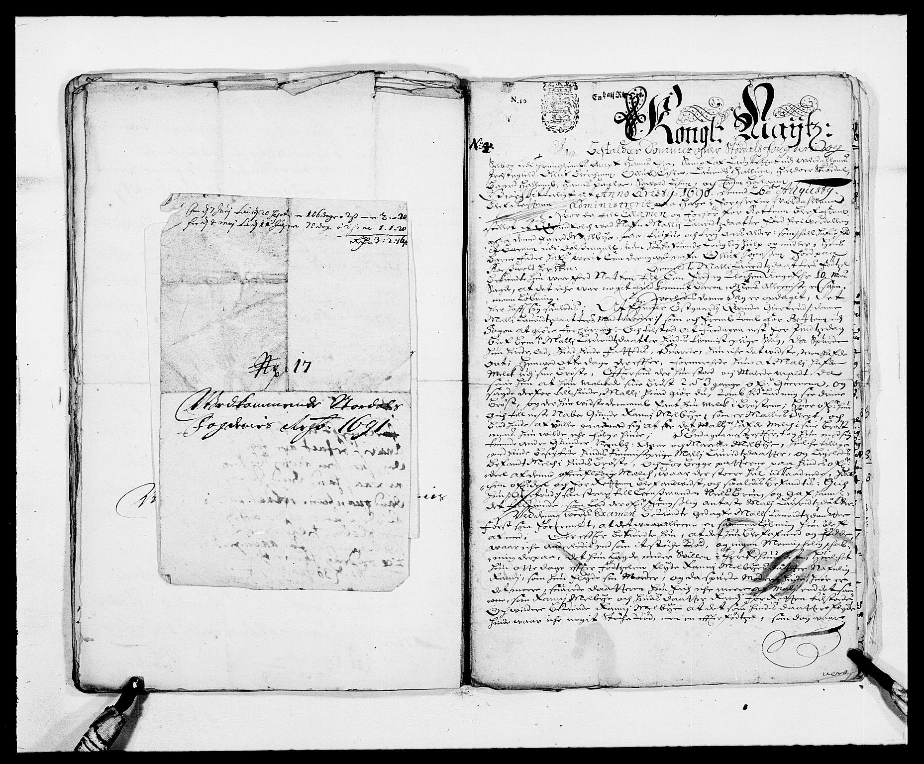 RA, Rentekammeret inntil 1814, Reviderte regnskaper, Fogderegnskap, R62/L4184: Fogderegnskap Stjørdal og Verdal, 1690-1691, s. 468