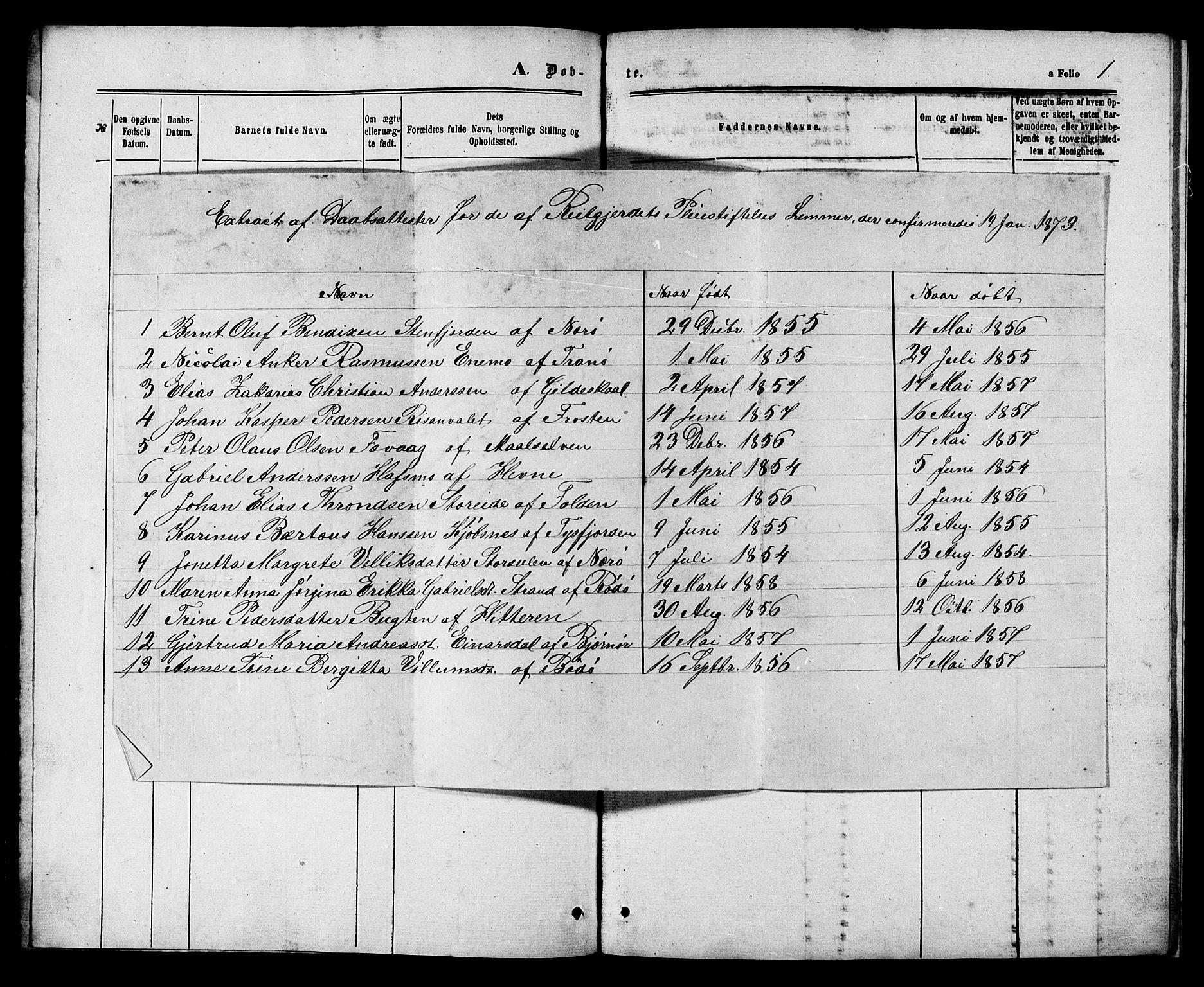 SAT, Ministerialprotokoller, klokkerbøker og fødselsregistre - Sør-Trøndelag, 629/L0485: Ministerialbok nr. 629A01, 1862-1869, s. 1