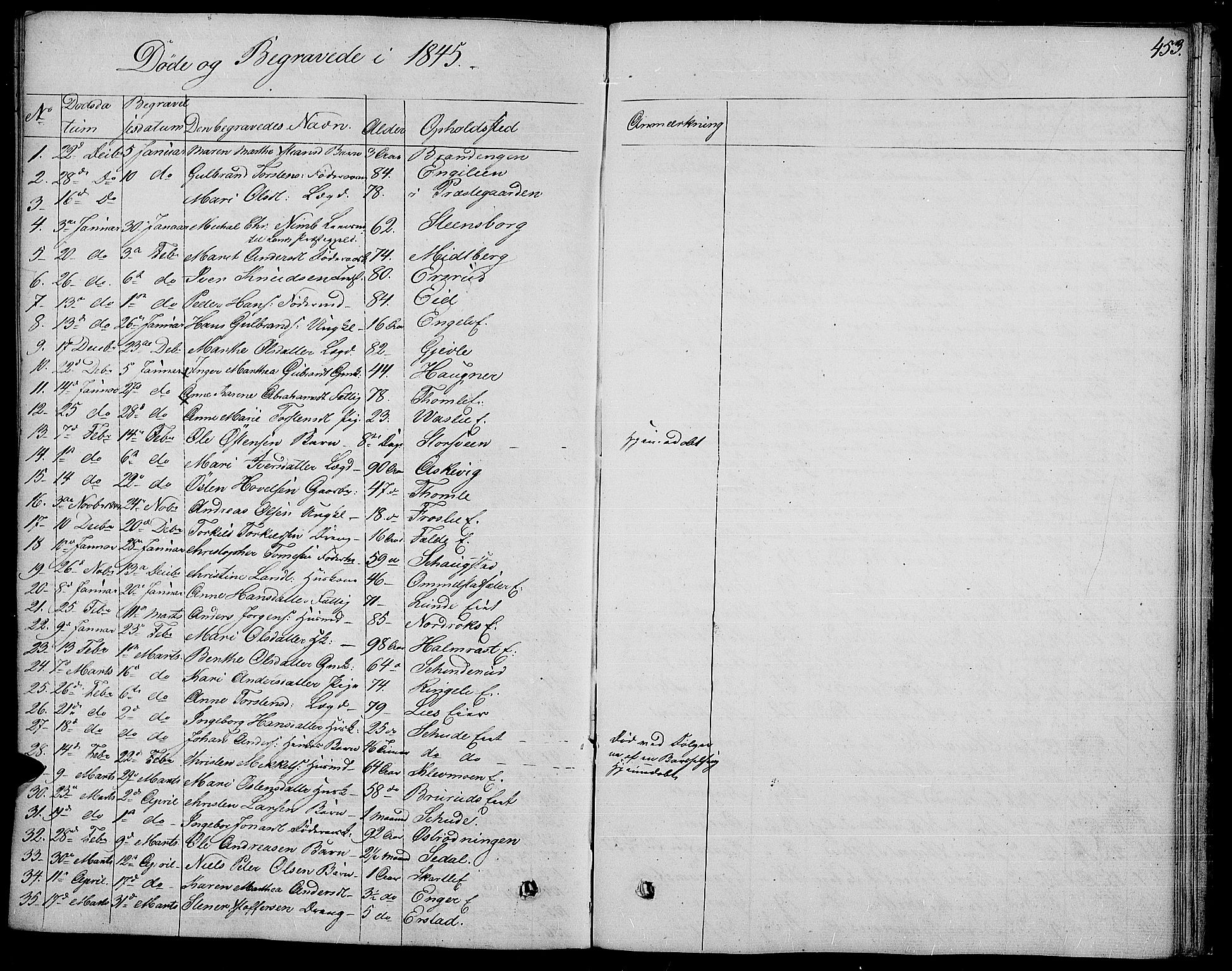 SAH, Land prestekontor, Ministerialbok nr. 8, 1830-1846, s. 453