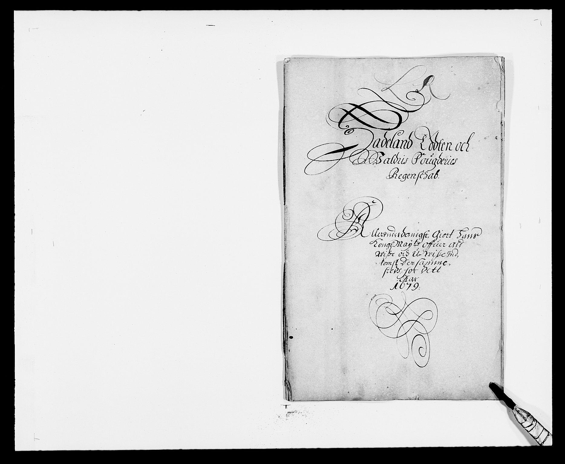 RA, Rentekammeret inntil 1814, Reviderte regnskaper, Fogderegnskap, R18/L1272: Fogderegnskap Hadeland, Toten og Valdres, 1679, s. 1