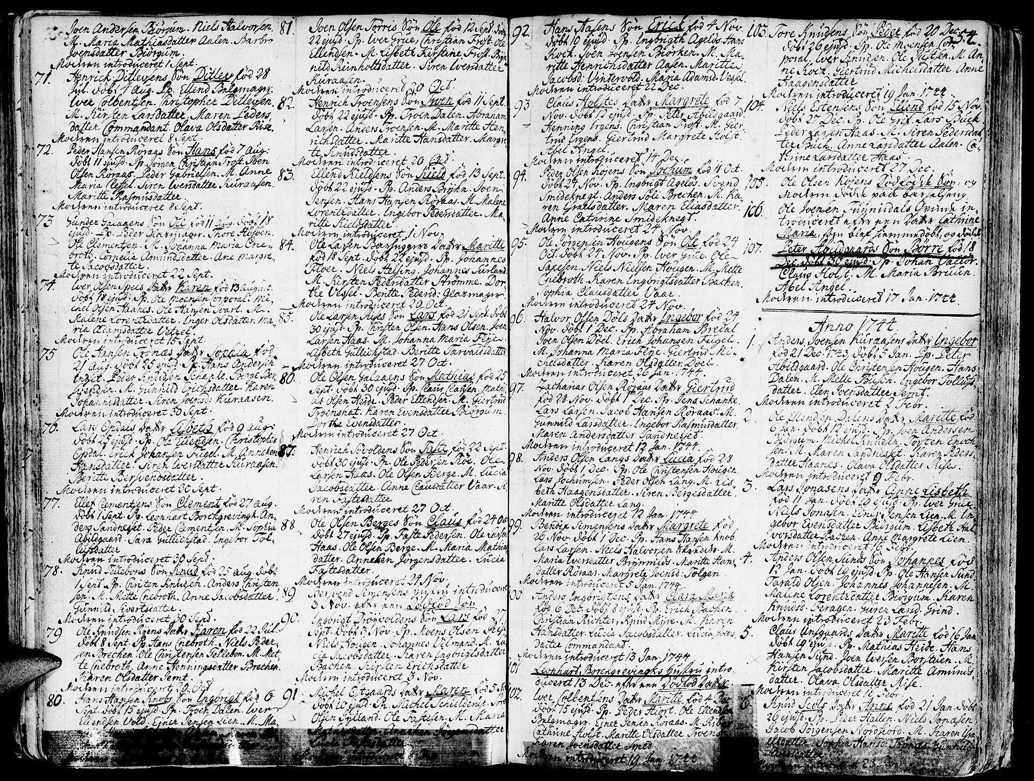 SAT, Ministerialprotokoller, klokkerbøker og fødselsregistre - Sør-Trøndelag, 681/L0925: Ministerialbok nr. 681A03, 1727-1766, s. 54