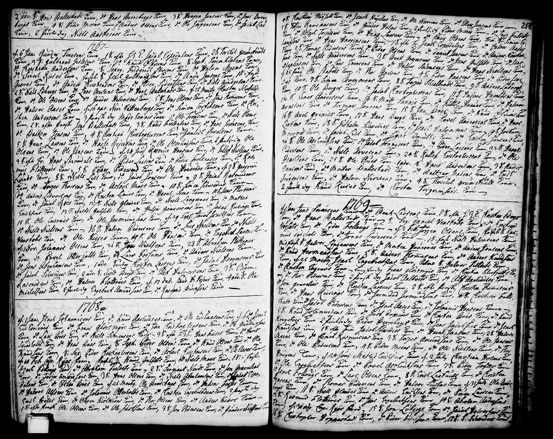 SAKO, Gjerpen kirkebøker, F/Fa/L0002: Ministerialbok nr. 2, 1747-1795, s. 254