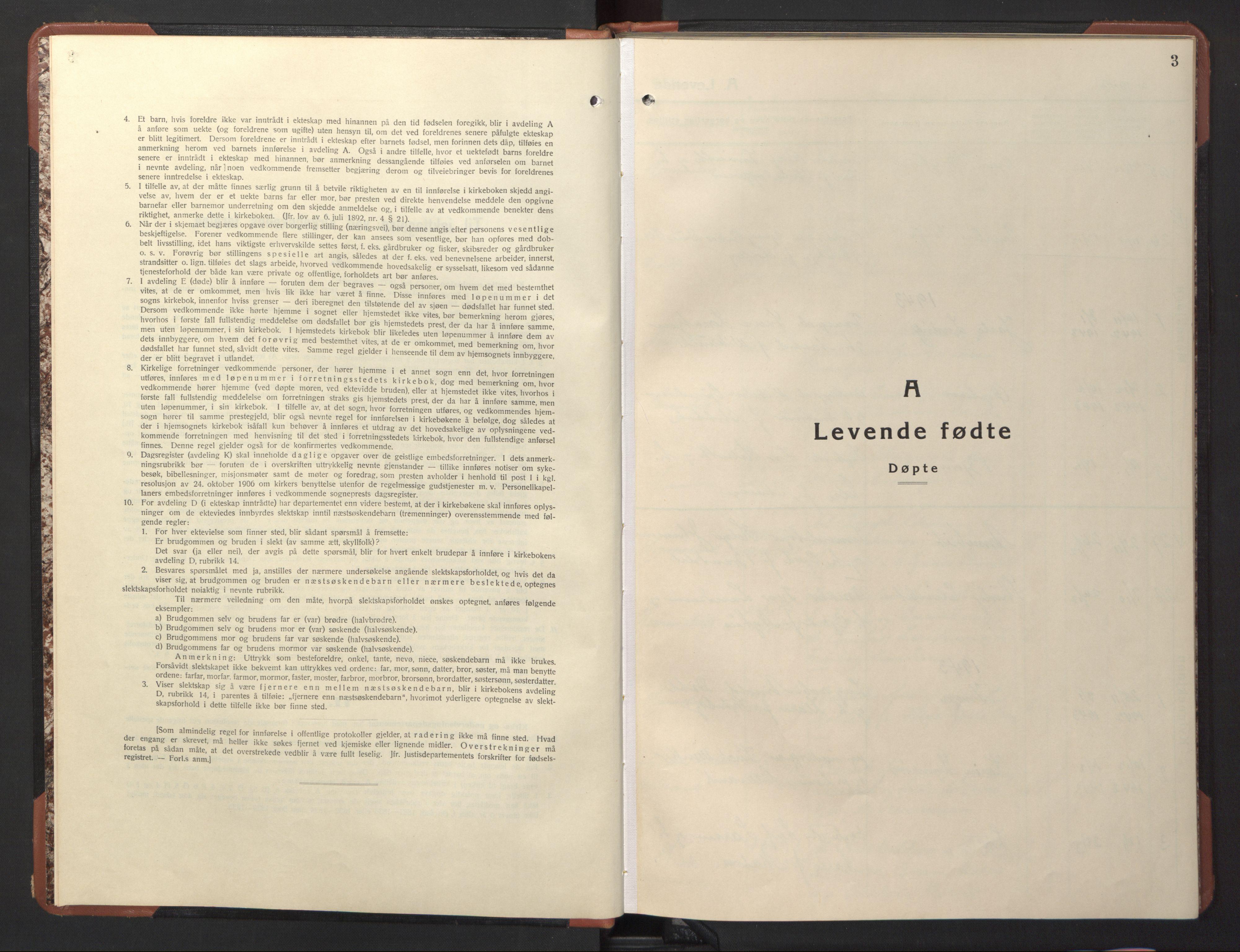 SAT, Ministerialprotokoller, klokkerbøker og fødselsregistre - Sør-Trøndelag, 617/L0433: Klokkerbok nr. 617C04, 1942-1947, s. 3