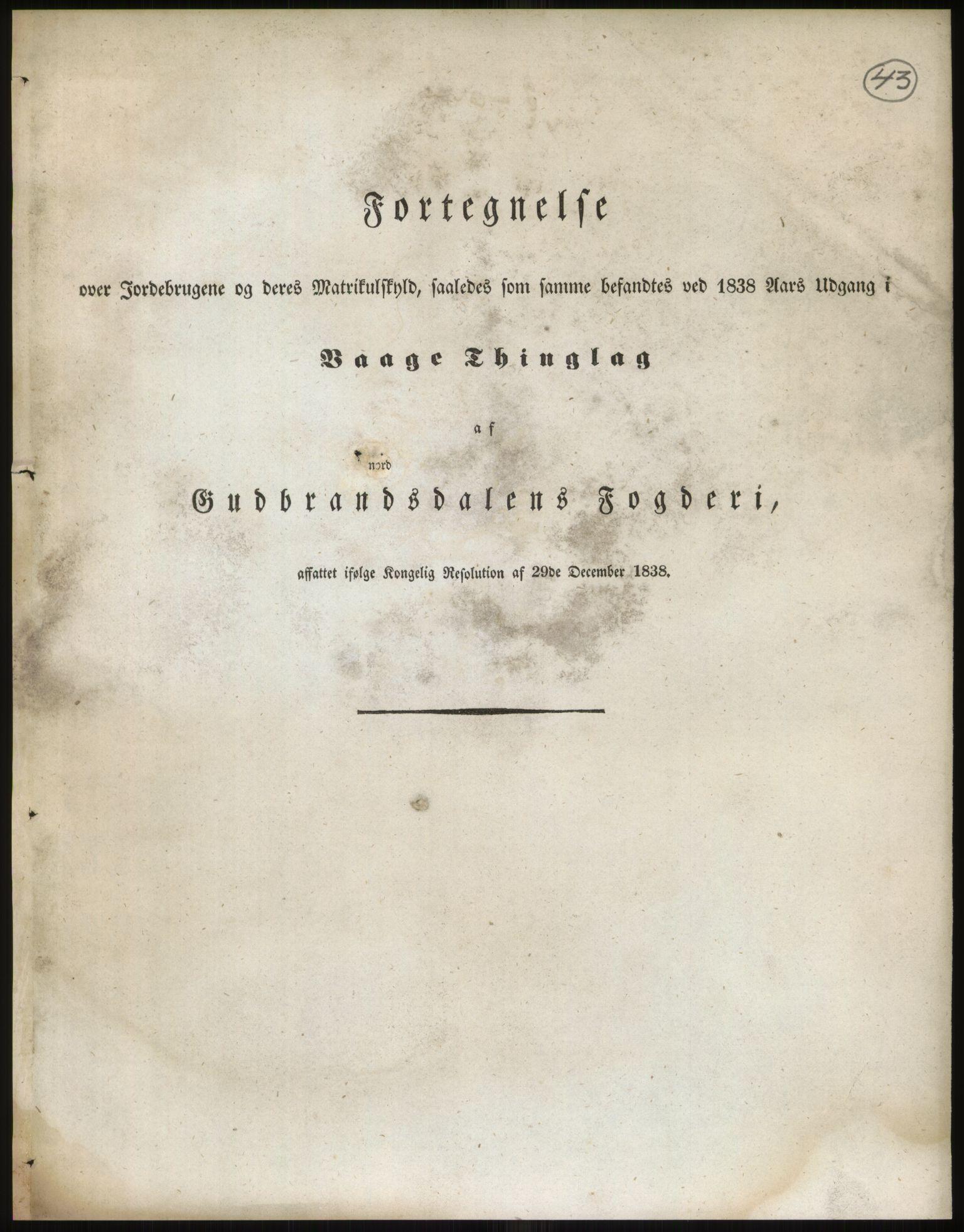 RA, 1838-matrikkelen (publikasjon)*, 1838, s. 43