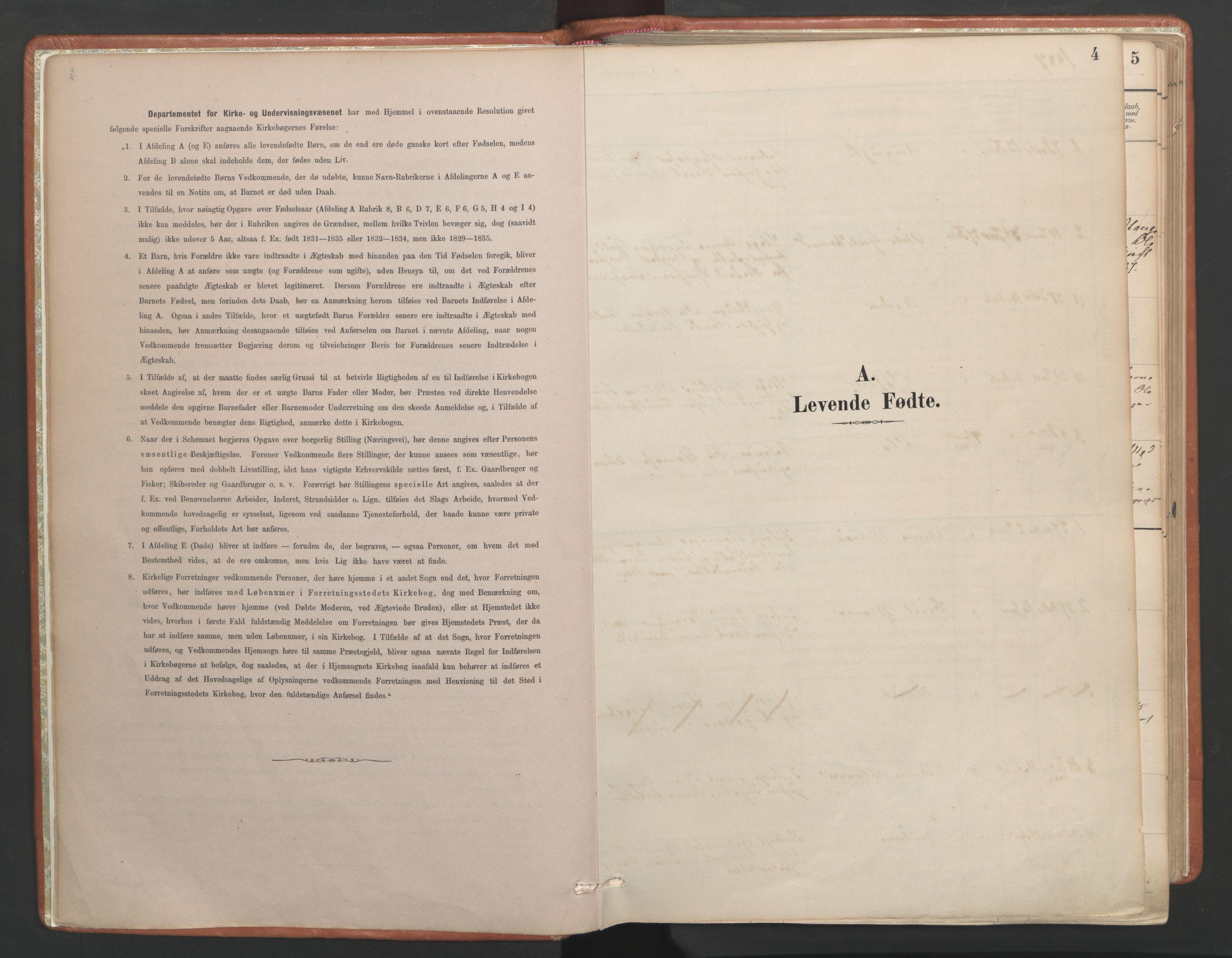 SAT, Ministerialprotokoller, klokkerbøker og fødselsregistre - Møre og Romsdal, 557/L0682: Ministerialbok nr. 557A04, 1887-1970, s. 4