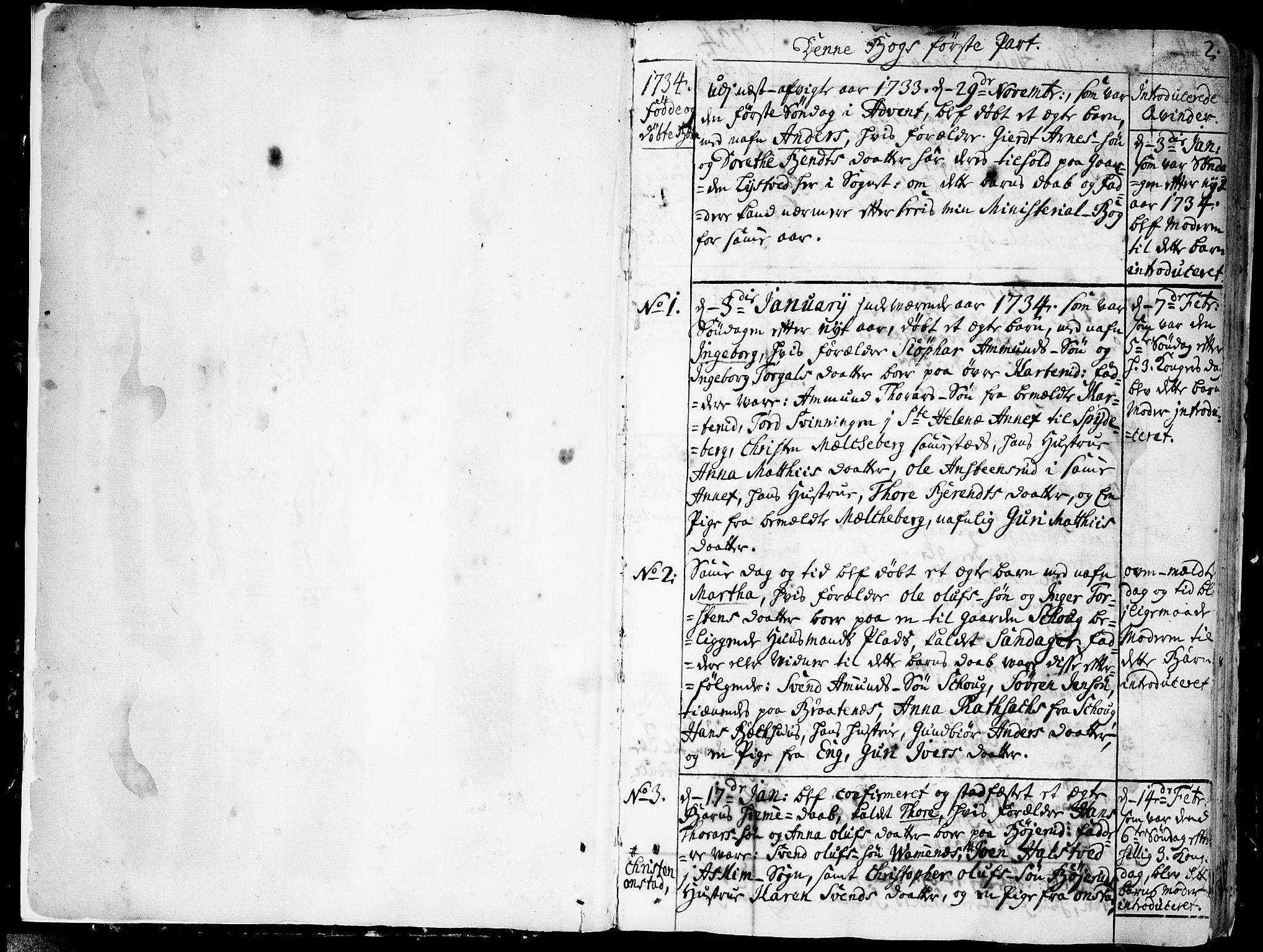 SAO, Skiptvet prestekontor Kirkebøker, F/Fa/L0002: Ministerialbok nr. 2, 1734-1759, s. 2