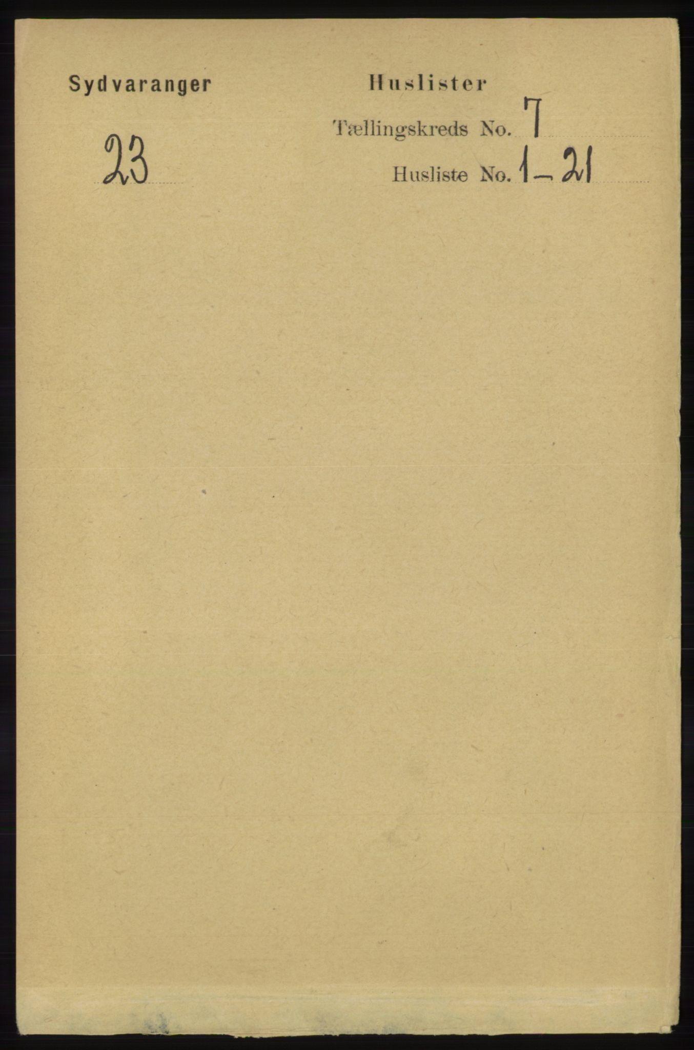 RA, Folketelling 1891 for 2030 Sør-Varanger herred, 1891, s. 2227