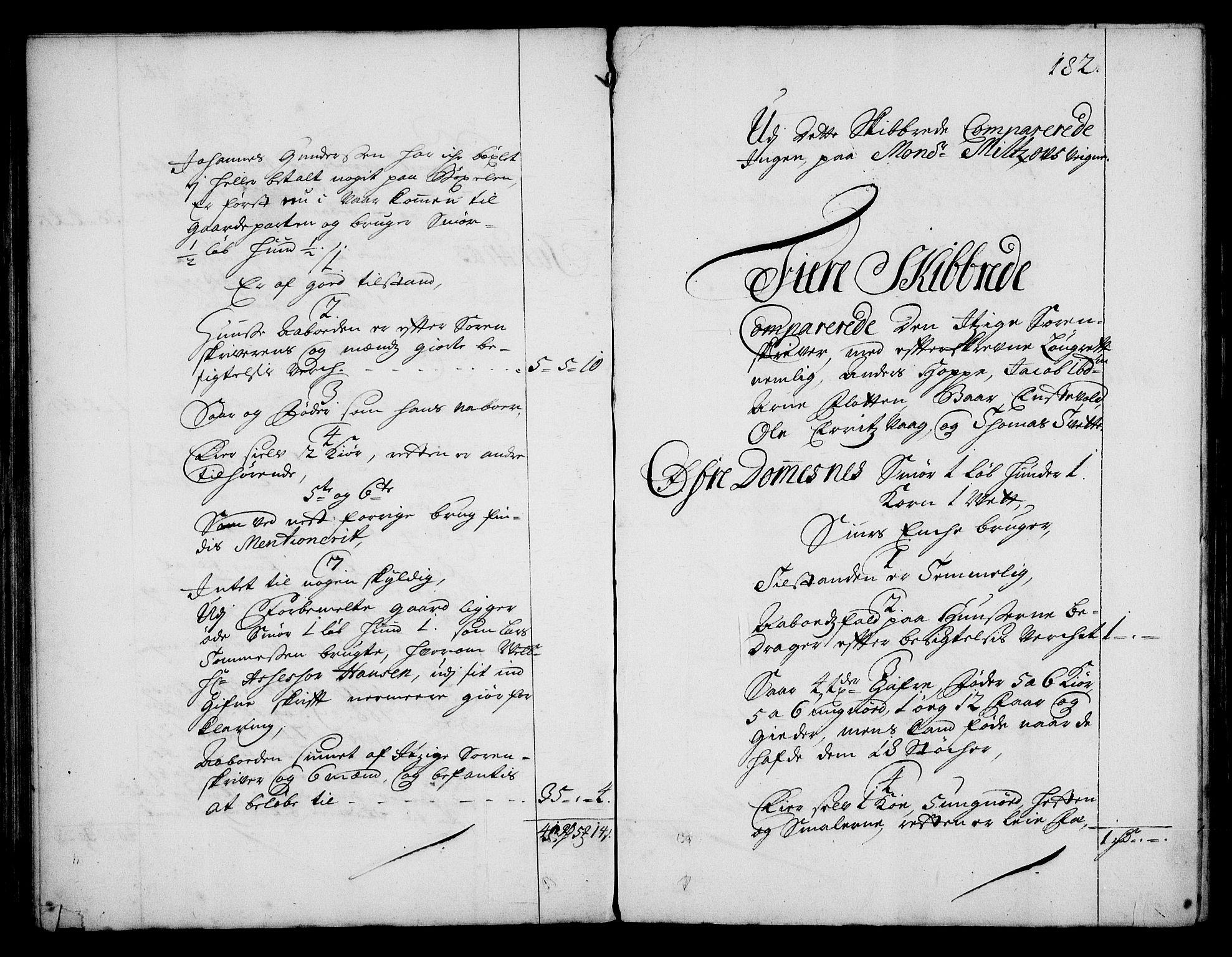 RA, Rentekammeret inntil 1814, Realistisk ordnet avdeling, On/L0003: [Jj 4]: Kommisjonsforretning over Vilhelm Hanssøns forpaktning av Halsnøy klosters gods, 1712-1722, s. 181b-182a