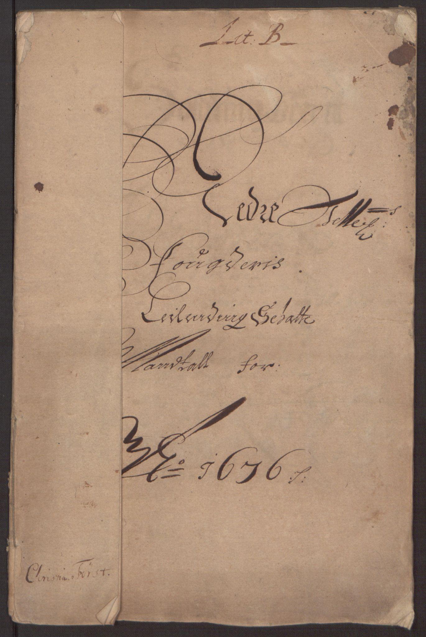 RA, Rentekammeret inntil 1814, Reviderte regnskaper, Fogderegnskap, R35/L2066: Fogderegnskap Øvre og Nedre Telemark, 1676, s. 13