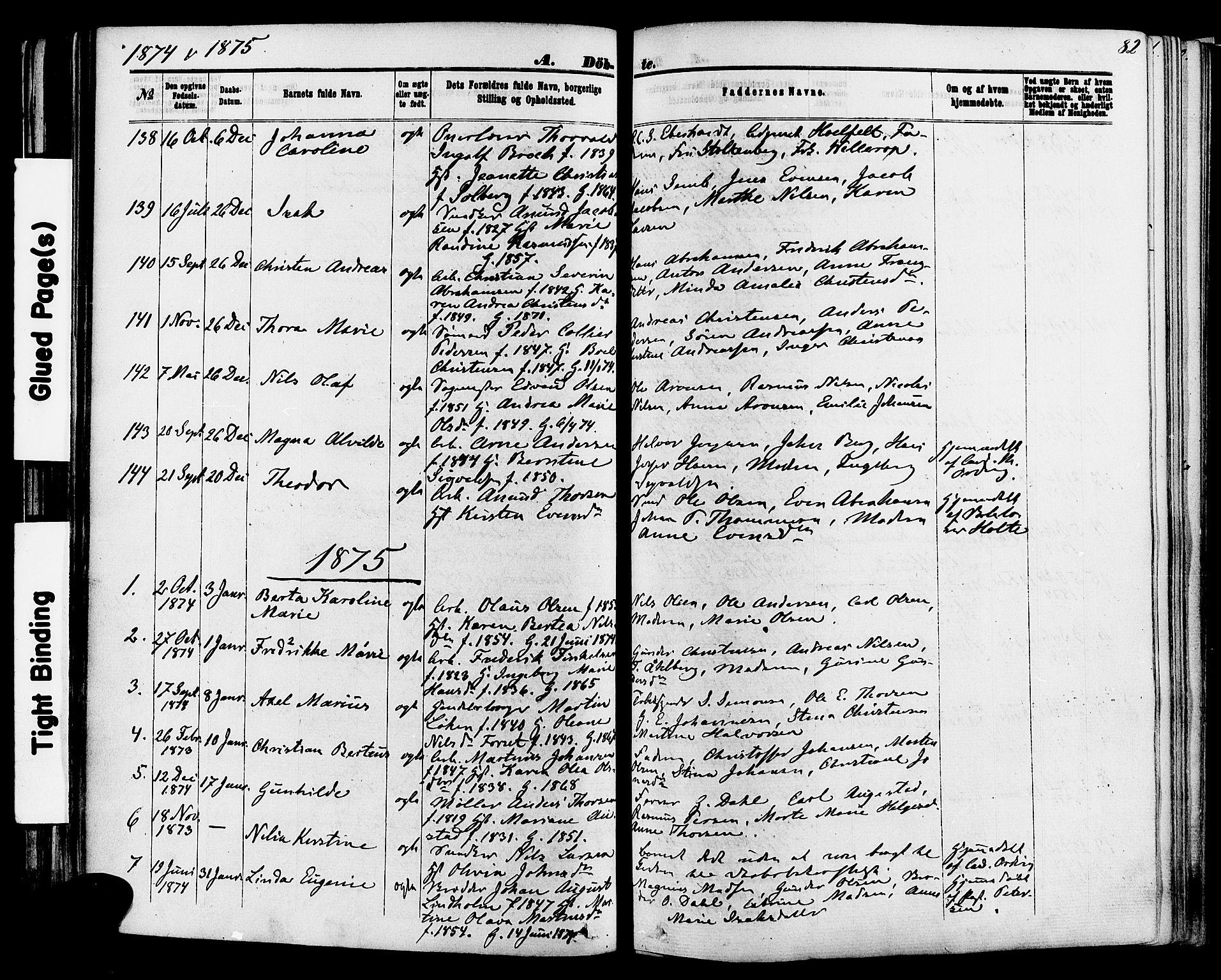 SAKO, Skien kirkebøker, F/Fa/L0008: Ministerialbok nr. 8, 1866-1877, s. 82