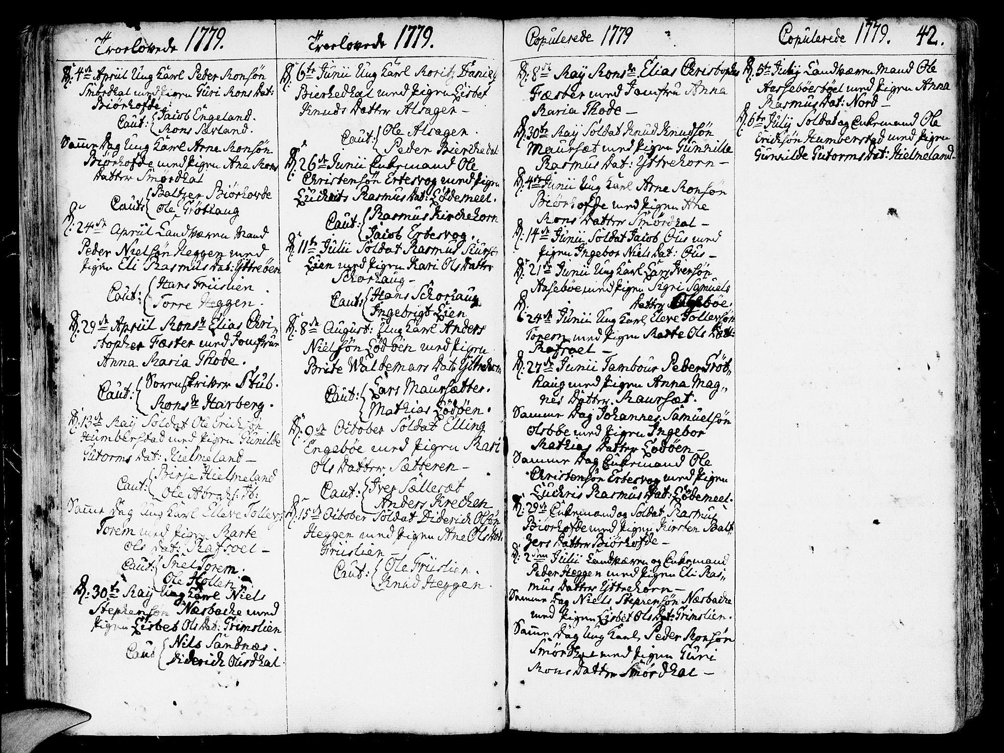 SAB, Eid Sokneprestembete, H/Haa: Ministerialbok nr. A 3, 1770-1805, s. 42