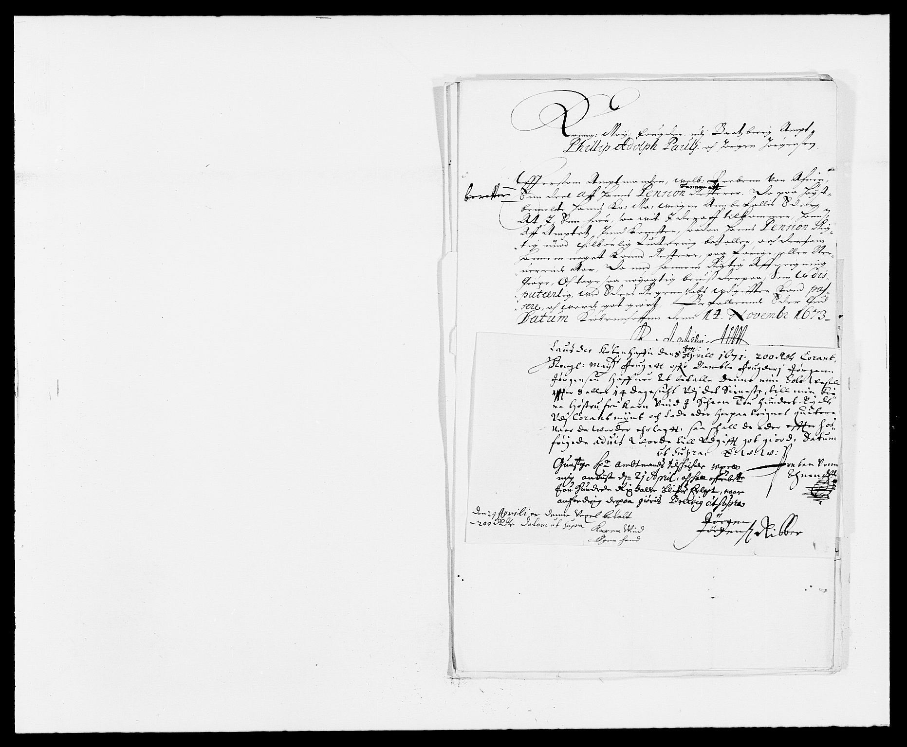 RA, Rentekammeret inntil 1814, Reviderte regnskaper, Fogderegnskap, R34/L2042: Fogderegnskap Bamble, 1673-1675, s. 432
