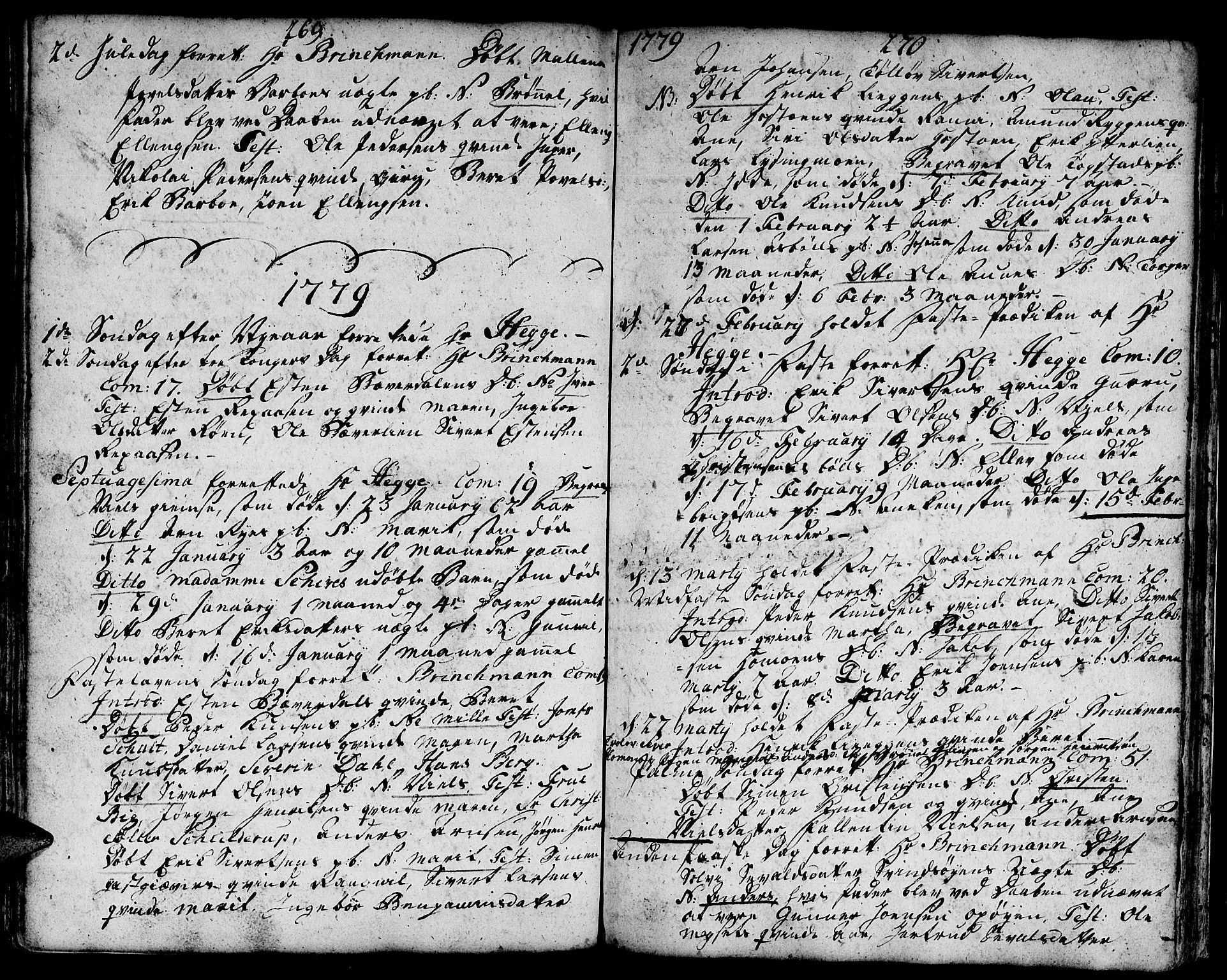 SAT, Ministerialprotokoller, klokkerbøker og fødselsregistre - Sør-Trøndelag, 671/L0840: Ministerialbok nr. 671A02, 1756-1794, s. 269-270